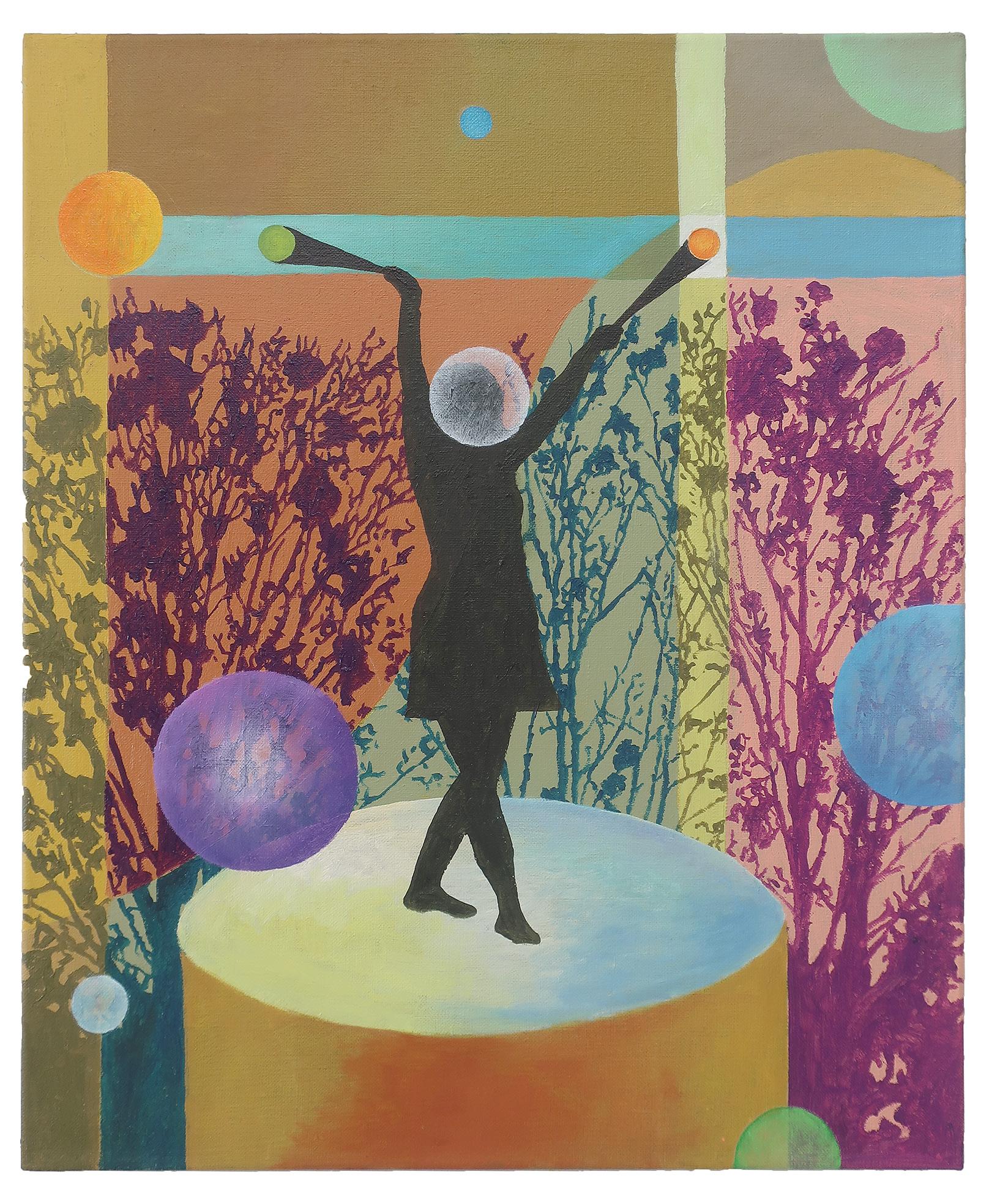 Inner Circle 8, 60x50 cm, Öl auf Leinwand, 2020