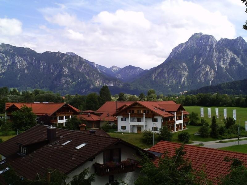 Füssen Blickrichtung Schloss Neuschwanstein