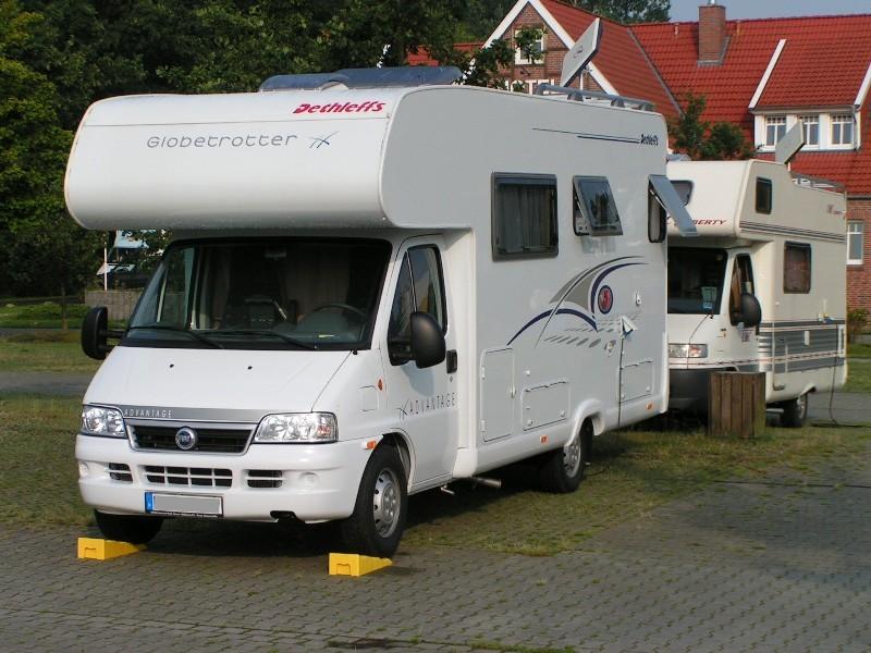 Womo-Stellplatz vor dem Campingplatz in Lathen (NS)