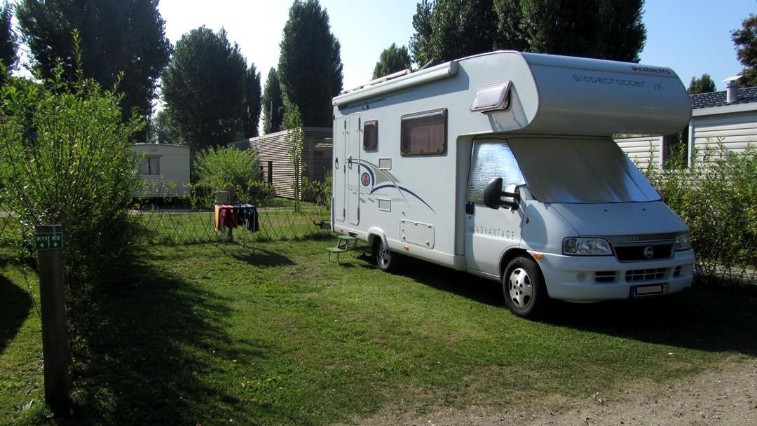 """Campingplatz """"Maisson Laffitte"""" als Ausgangspunkt für unsere Paristour."""