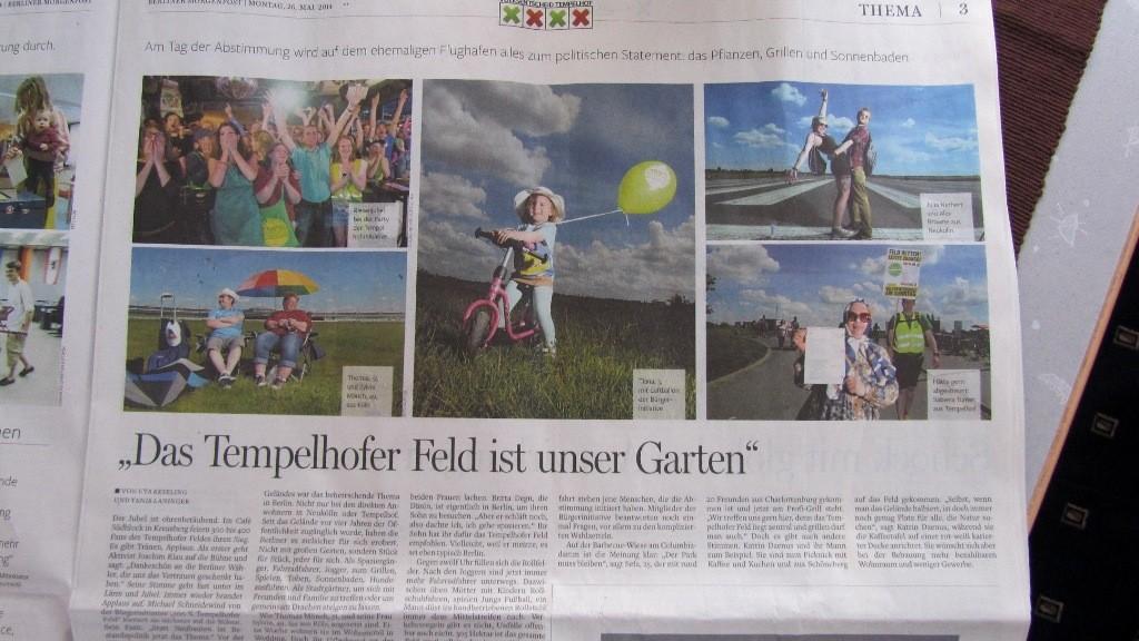Die Berliner Morgenpost mit einem Bild von uns