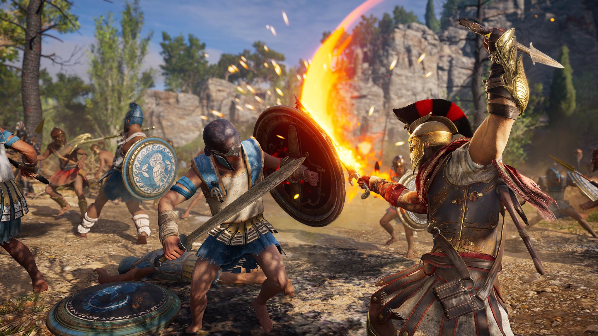 """Ist neben vielen anderen Ubisoft-Spielen nach wie vor das Aushängeschild von Googles neuem Streaming-Dienst: """"Assassin's Creed: Odyssey"""". Eigene Spiele hat der Hersteller leider keine gezeigt."""