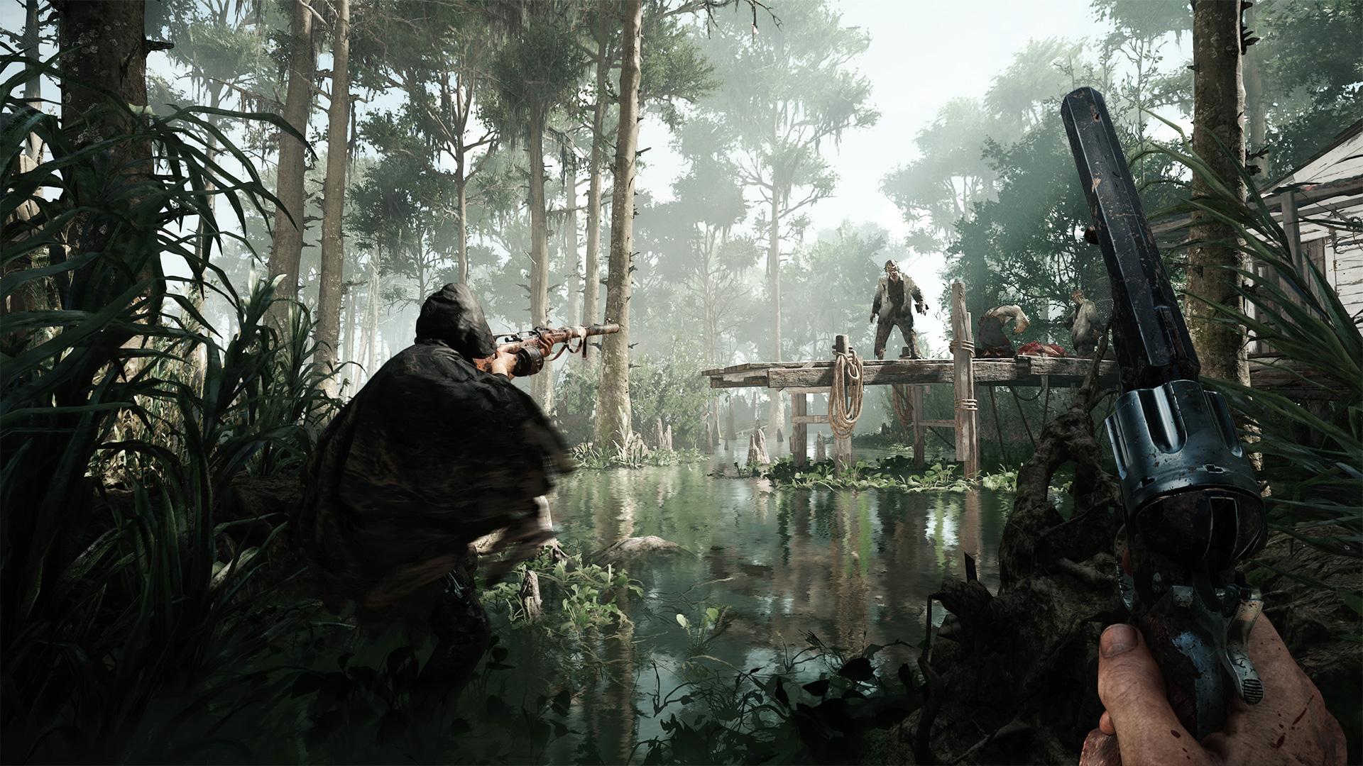 """Wenn es um eine makellose Präsentation geht, macht Crytek so schneller keiner was vor - vor allem in Deutschland nicht: Ihr Multiplayer-Shootout """"Hunt: Showdown"""" hat laut Entwicklerpreis-Jury die beste Grafik und den eindrucksvollsten Sound."""