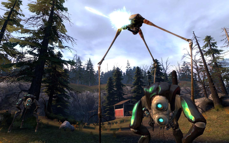 """Im ersten """"Half Life"""" wird das Portal in ein anderes Universum geöffnet –""""Half Life 2"""" spielt 20 Jahre danach: Durch das Wurmloch haben sich auf der Erde Aliens bereit gemacht, unsere Zivilisation verwüstet und die Überlebenden in Reservate gepfercht."""