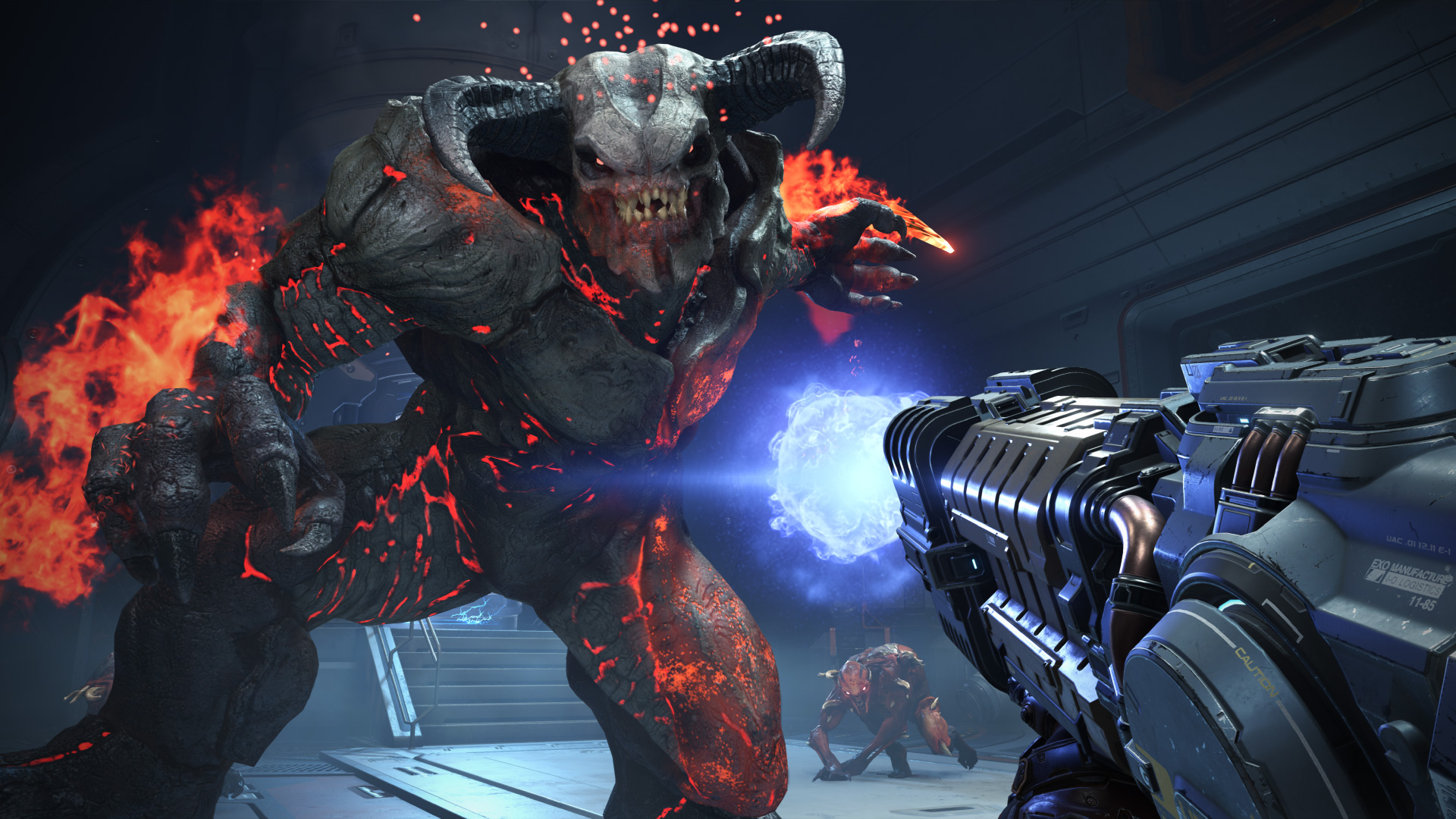 """War der Star auf der Quakecon 2018: """"Doom Eternal"""". Ein rund 25-minütiger Gameplay-Trailer zeigte vor allem..."""
