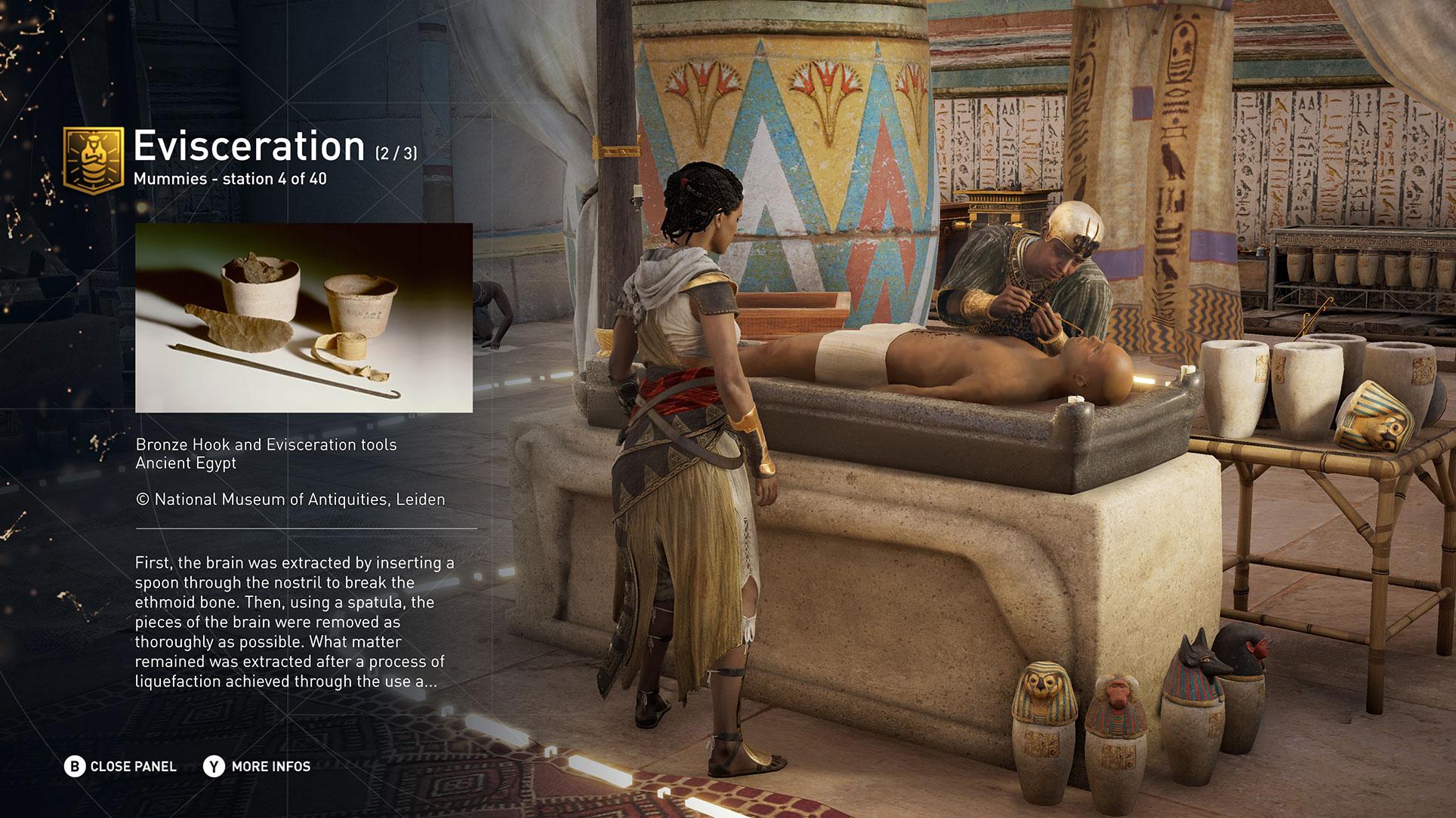 ... und den geheimnisvollen Vorgang der Mumifizierung, bei dem Toten unter anderem das Gehirn durch die Nase entfernt wurde.