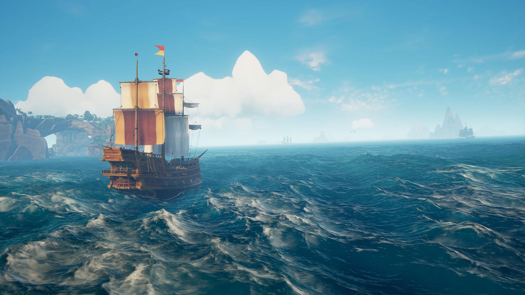 """... """"Sea of Thieves"""", bei dem man Community-Rabauken unschädlich machen kann, indem man sie in den Schiffsknast wählt."""