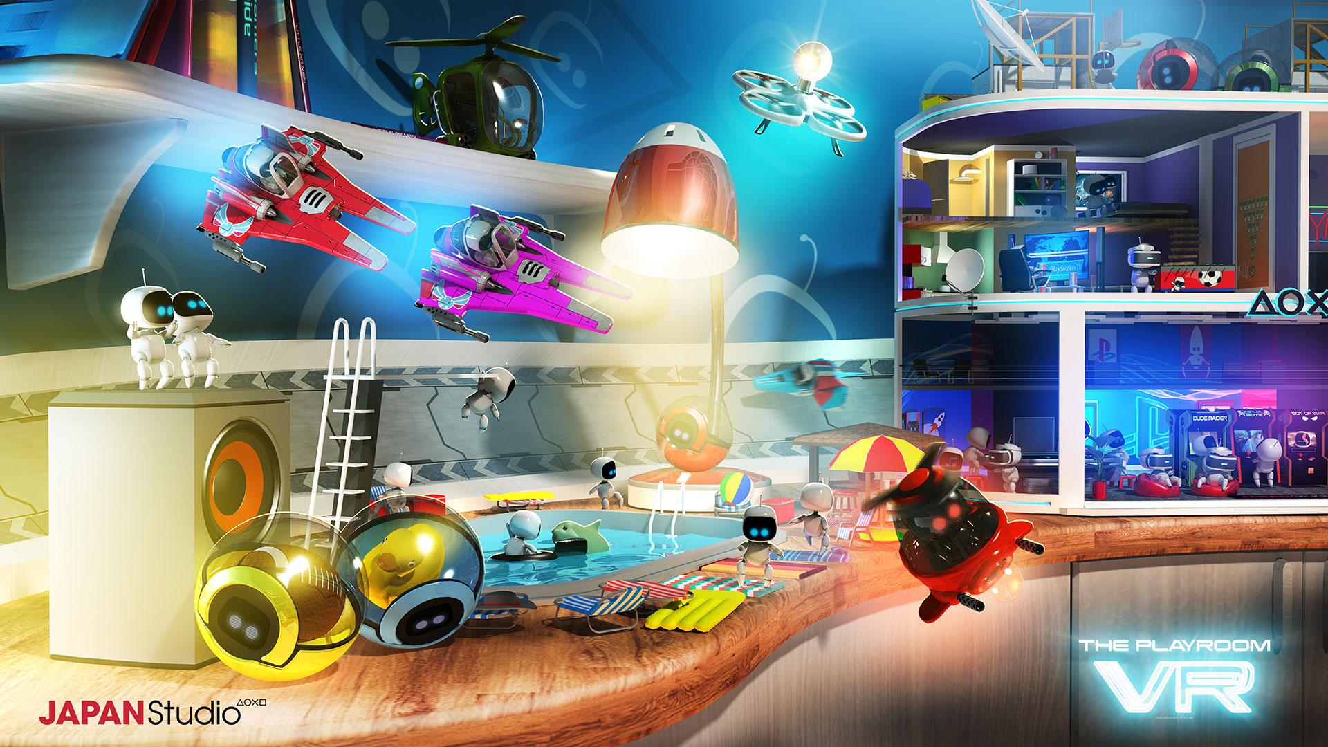 """Die extra für PlayStation VR konzipierte Minigame-Sammlung """"Playroom VR"""" zeigt gekonnt mögliche Spielarten für die Virtuelle Realität auf. (13.10. für PS4, PS VR)"""