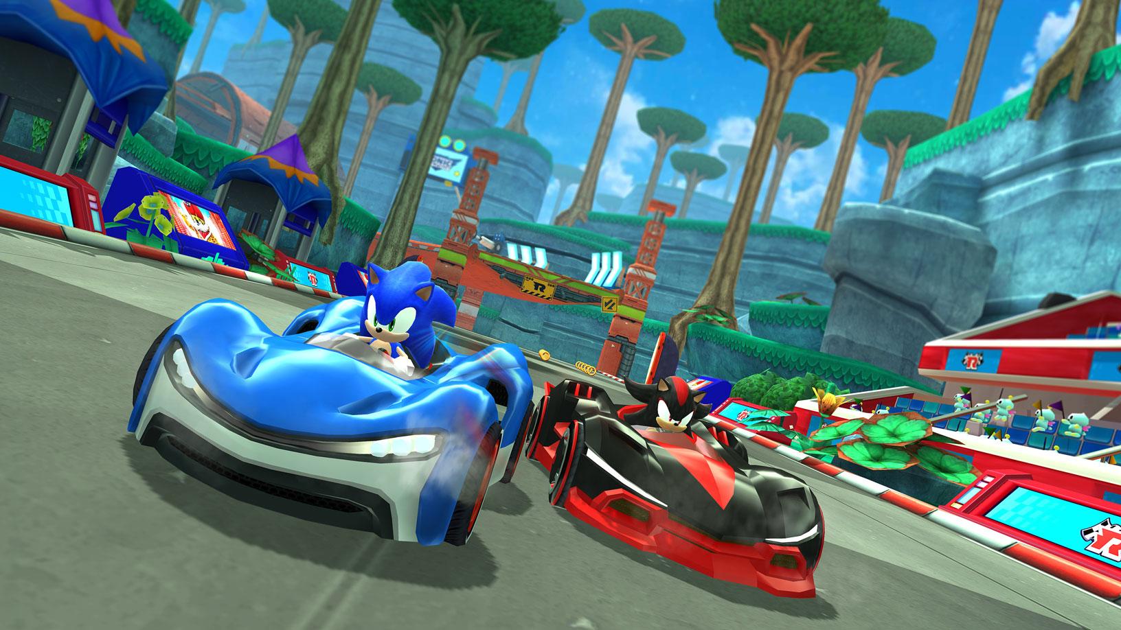 """Drehen bald auch für Apple Arcade ihre Runden: Die Fun-Racer aus SEGAs """"Sonic Racing""""."""