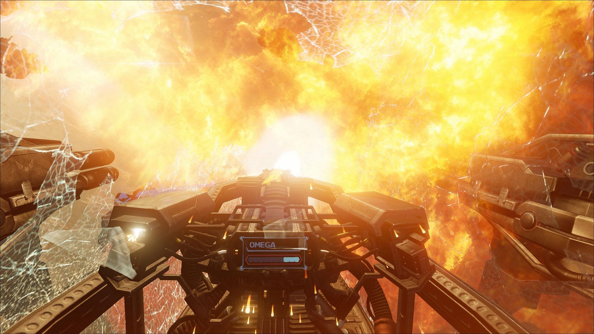 """Endlich über ein gigantisches Schlachtschiff an der Schulter des Orion ziehen, als wäre man tatsächlich da: PlayStation VR und der """"EVE Online""""-Ableger """"EVE: Valkyrie machen's möglich. (13.10. für PS4, PS VR)"""