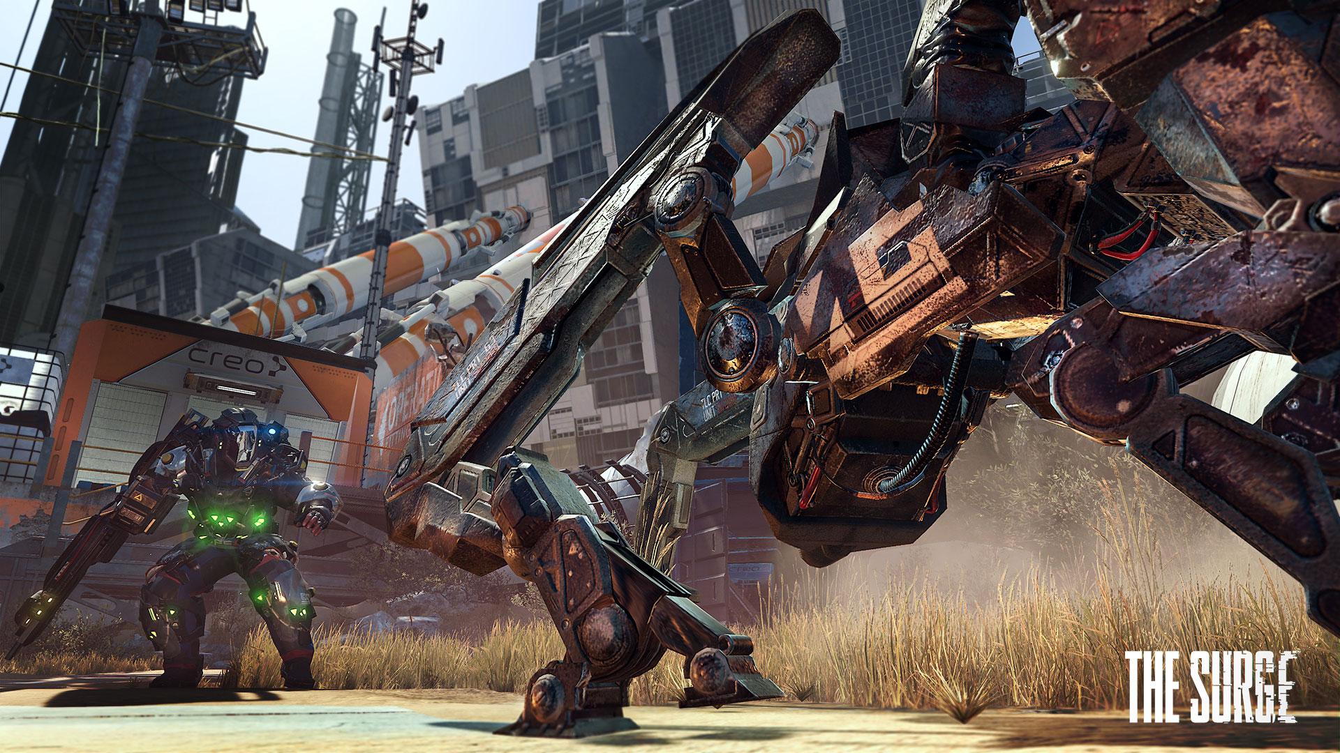 """Futuristische Roboter- und Zombie-Action auf den Spuren von """"Dark Souls"""": """"The Surge"""" vom deutschen Entwickler Deck13 gehört im April zum PlayStation-Plus-Programm."""