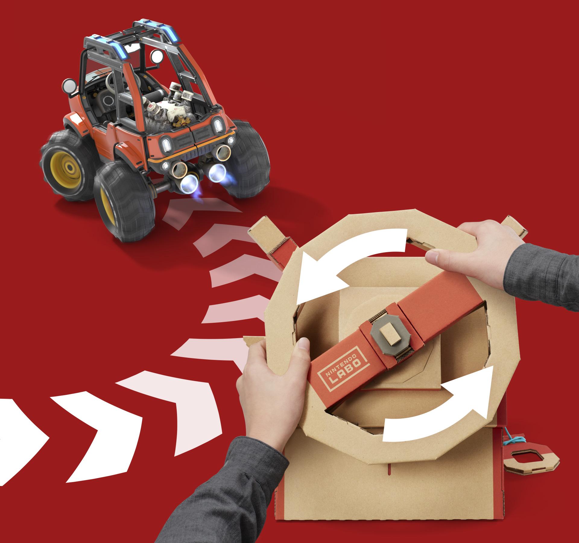Funktioniert selbst in engen Kurven tadellos: die Steuerung des Autos per Lenkrad.
