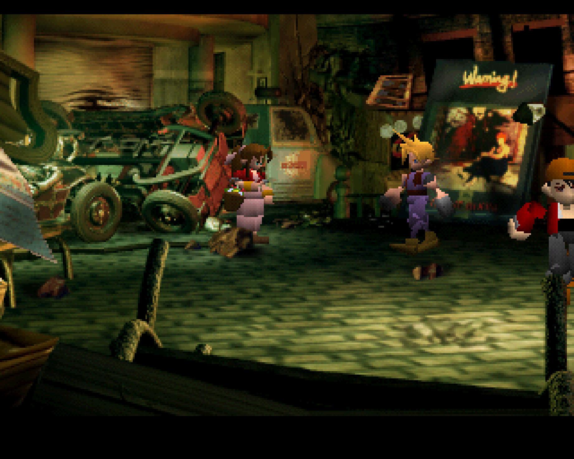 """... Squaresofts erstes 3D-Rollenspiel """"Final Fantasy 7"""". Ebenfalls mit dabei..."""