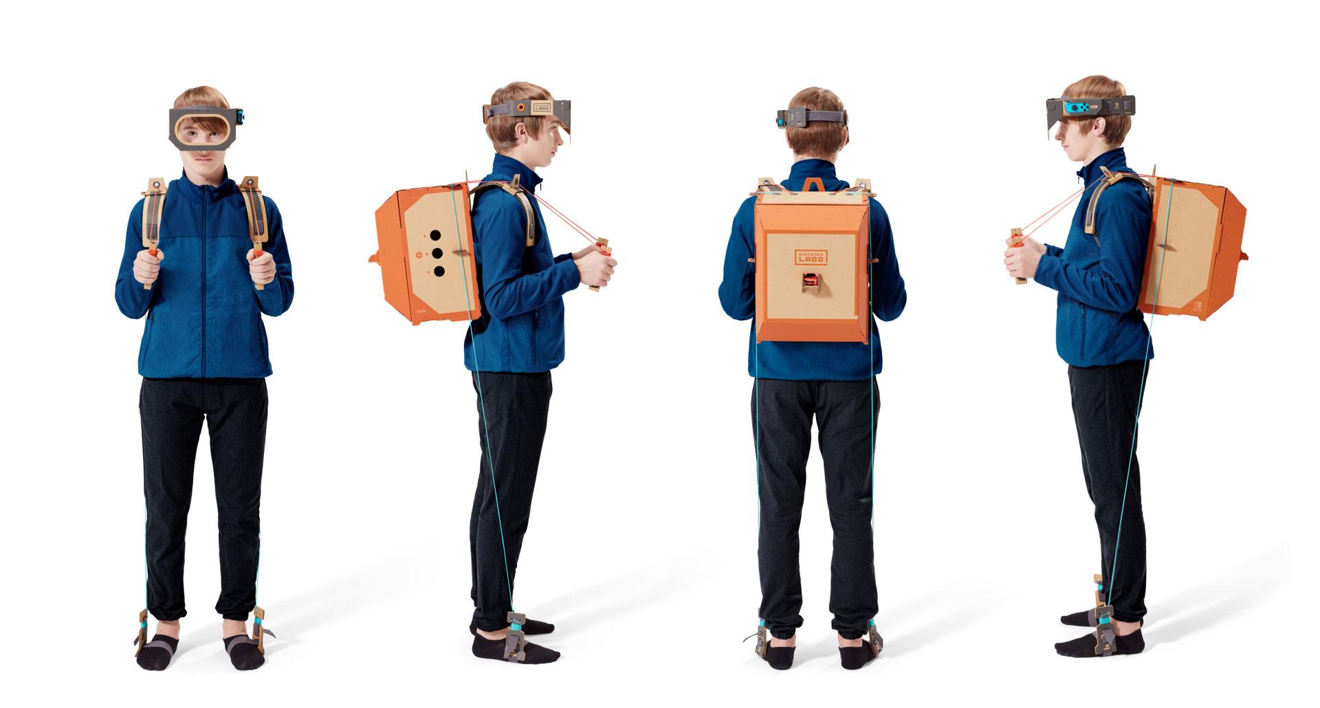 """Die digital abspielbaren Bastel-Anleitungen sind leicht verständlich, trotzdem braucht die Konstruktion eines """"Labo""""-Sets ihre Zeit: Spitzenreiter ist der abgebildete Roboter-Ganzkörper-Controller, für dessen Zusammenbau gut sechs Stunden ins Land gehen."""