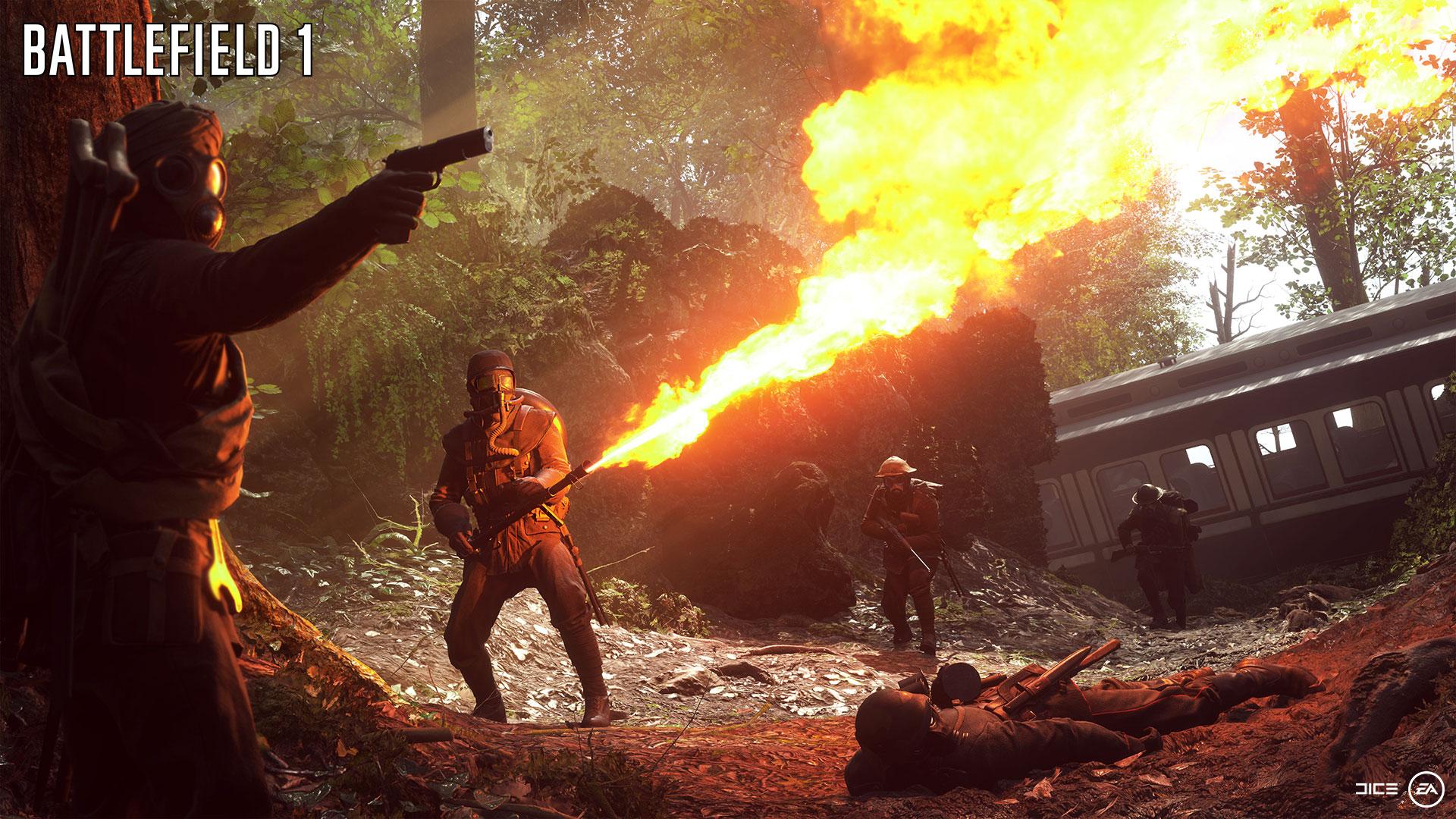 """Zeitlicher Rückschritt, inszenatorischer Fortschritt: Mit """"Battlefield 1"""" verlegen Electronic Arts und Dice ihre beliebte Shooter-Reihe von der Gegenwart in den Ersten Weltkrieg. (21.10. für PS4, XBO, PC)."""