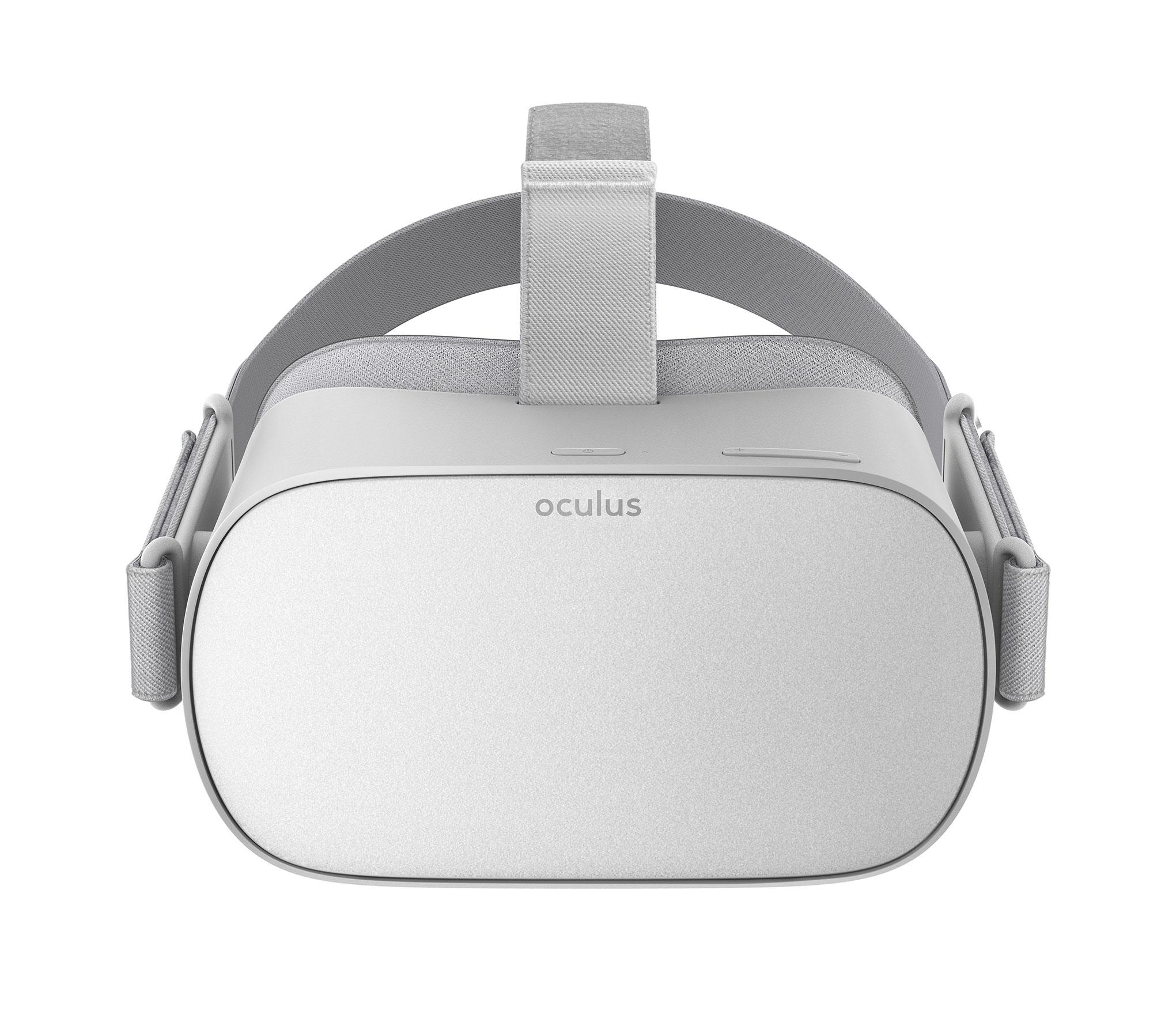 """Leicht, günstig und mit eingebauter Gaming-Hardware ausgestattet: Die """"Oculus Go"""" ist das beste mobile VR-Headset. Doch ebenso wie eine """"Gear VR"""" kann sie nicht die Position des Spielers im virtuellen Raum erfassen."""