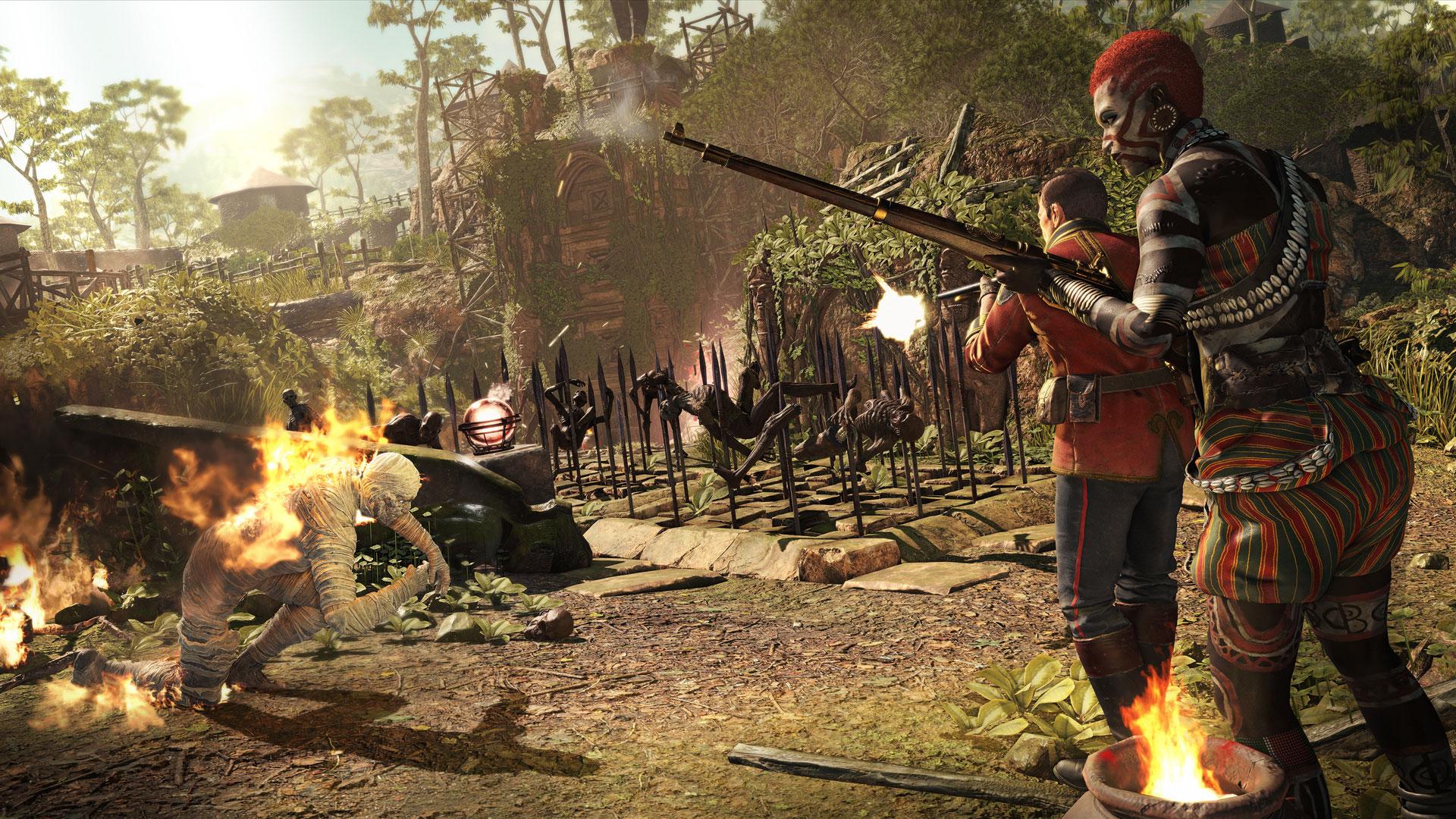 Bei hohem Gegner-Aufkommen und im Mehrspieler-Modus wollen die über das Spiel-Terrain verteilten Fallen besonders kreativ eingesetzt werden.
