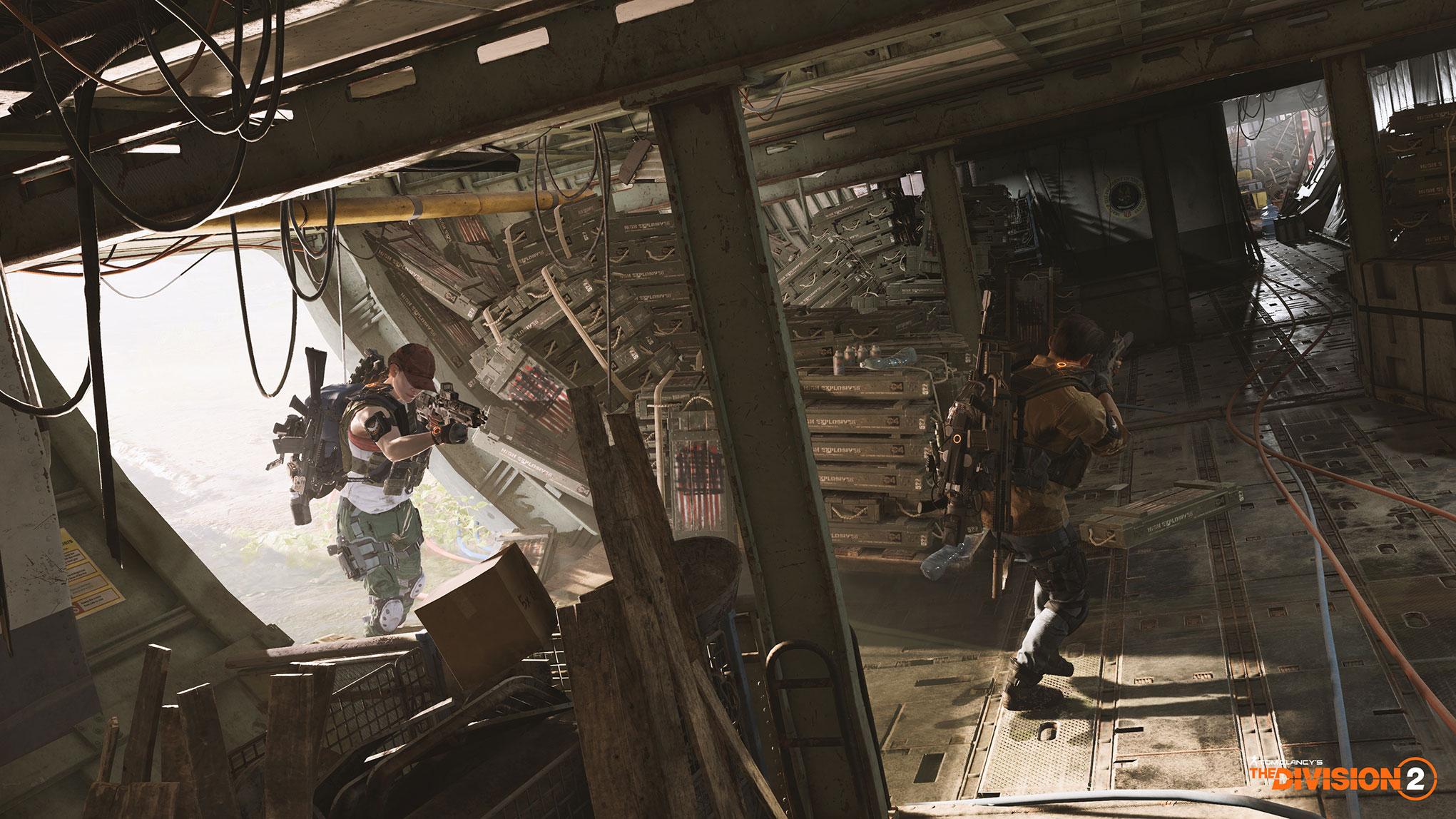 """Multiplayer-Schlachten mit bis zu acht Spielern als Koop-Team: """"The Division 2"""" spielt in den von Seuchen und Bürgerkrieg verwüsteten USA. Voraussichtlicher Stichtag für die Apokalypse ist im März 2019."""