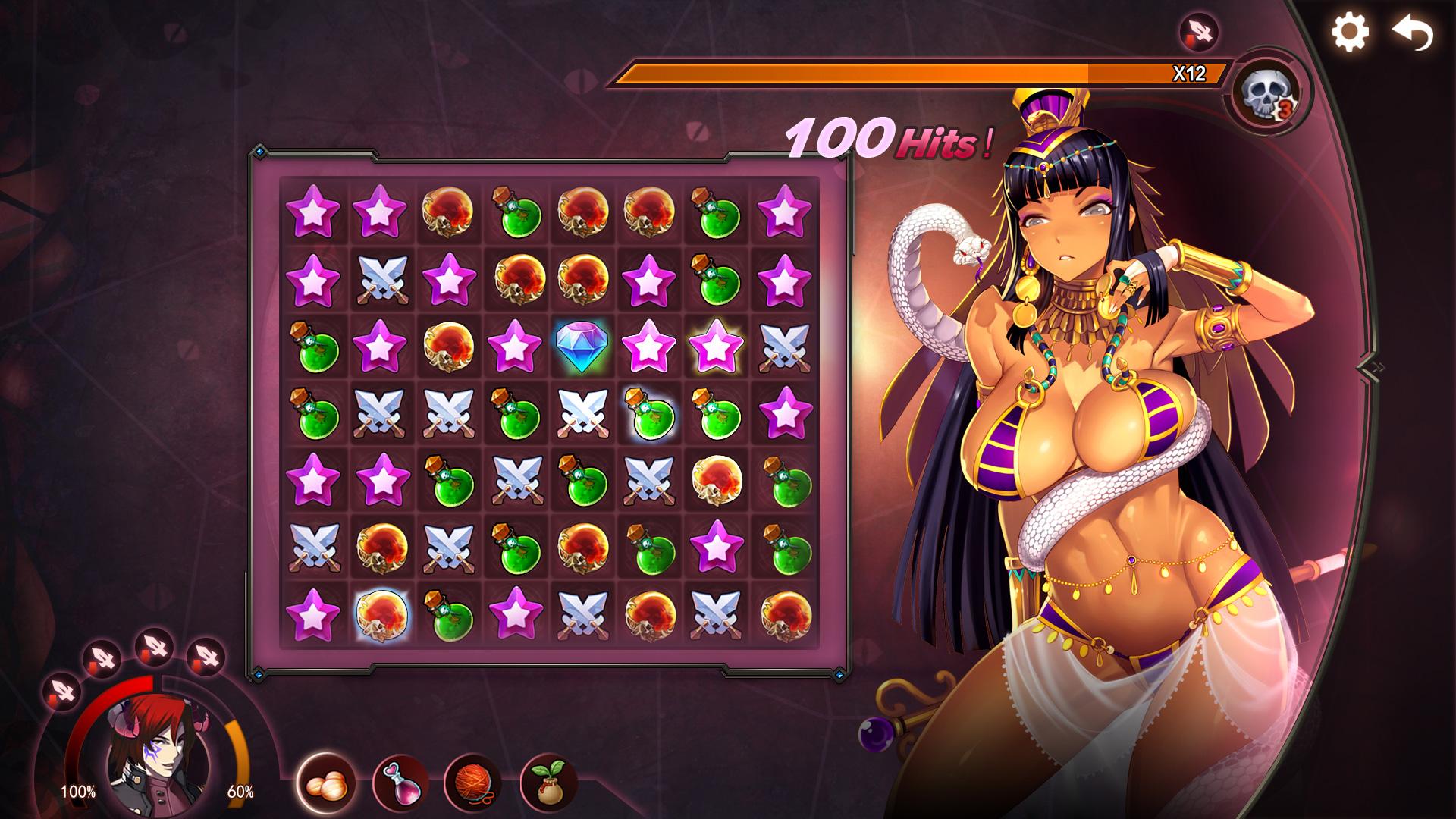 """Knobel-Einlagen mit erotischer Illustration: Im Erotik-Game """"Mirror"""" gibt es viel nackte Manga-Haut zu sehen."""