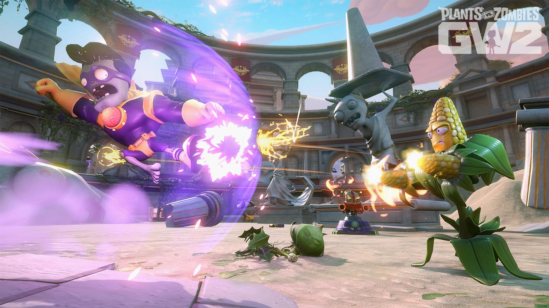 Plants vs. Zomies: Garden Warfare 2: Neben zwölf neuen Karten, sechs zusätzlichen Charakteren und Splitscreen-Modus sollen viele nachgereichte Gratis-Inhalte und ein Singleplayer-Modus das humorige Action-Aufgebot lange am Leben erhalten.
