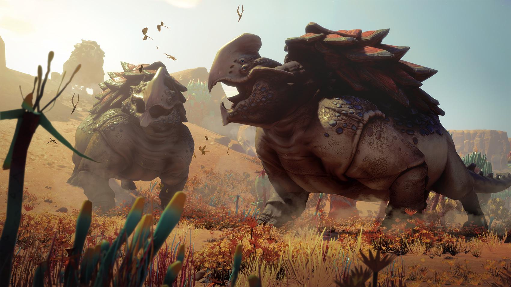 """Auch das Tierleben der fremdartigen Welten wirkt, als hätte man es aus """"No Man's Sky"""" importiert. Auch hier muss man mehrere Exemplare einer Spezies scannen, um etwas über sie zu erfahren"""