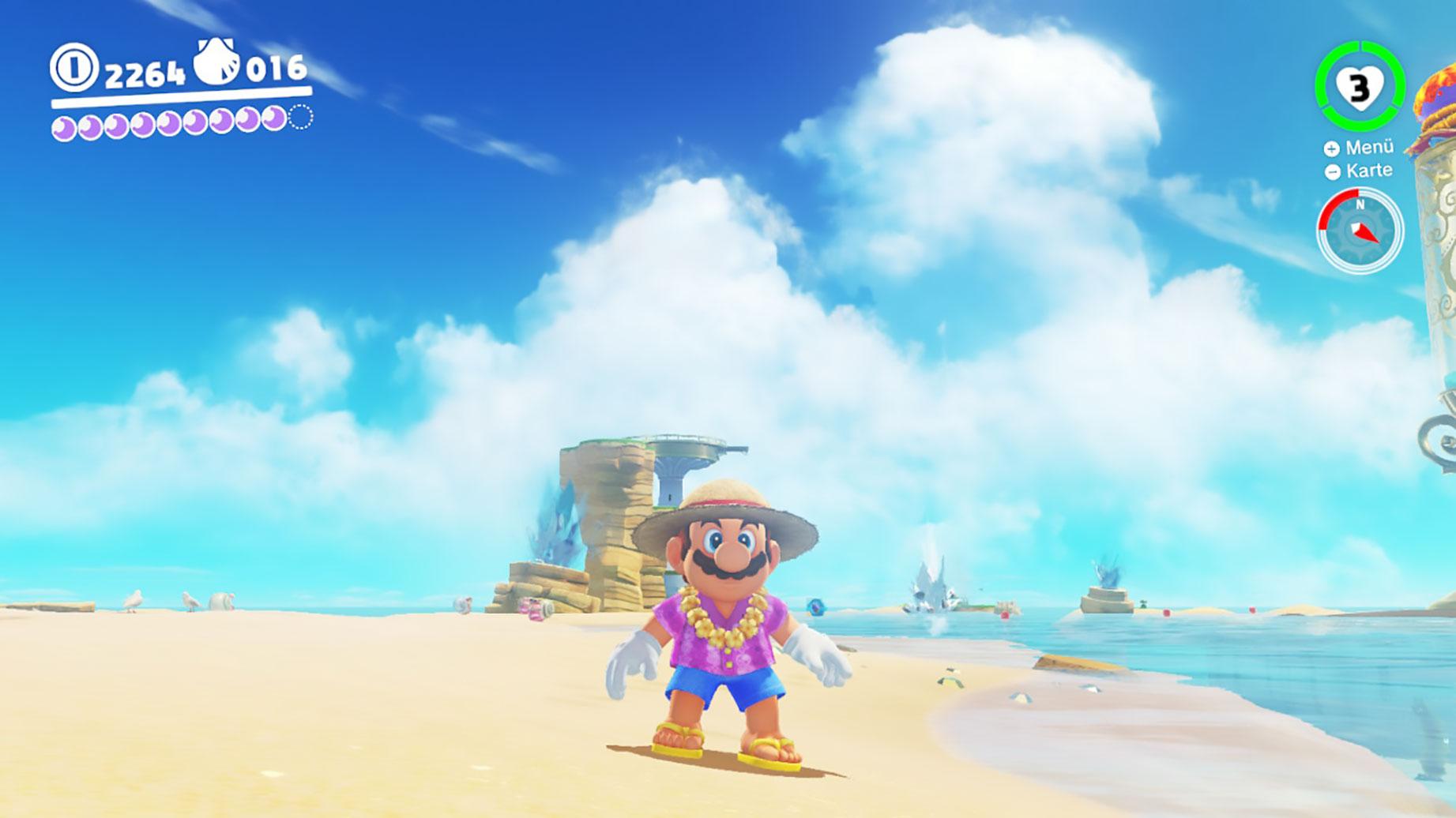 """Bekommt angeblich ein extra VR-Makover: der Strand-Level aus """"Super Mario Odyssey""""."""