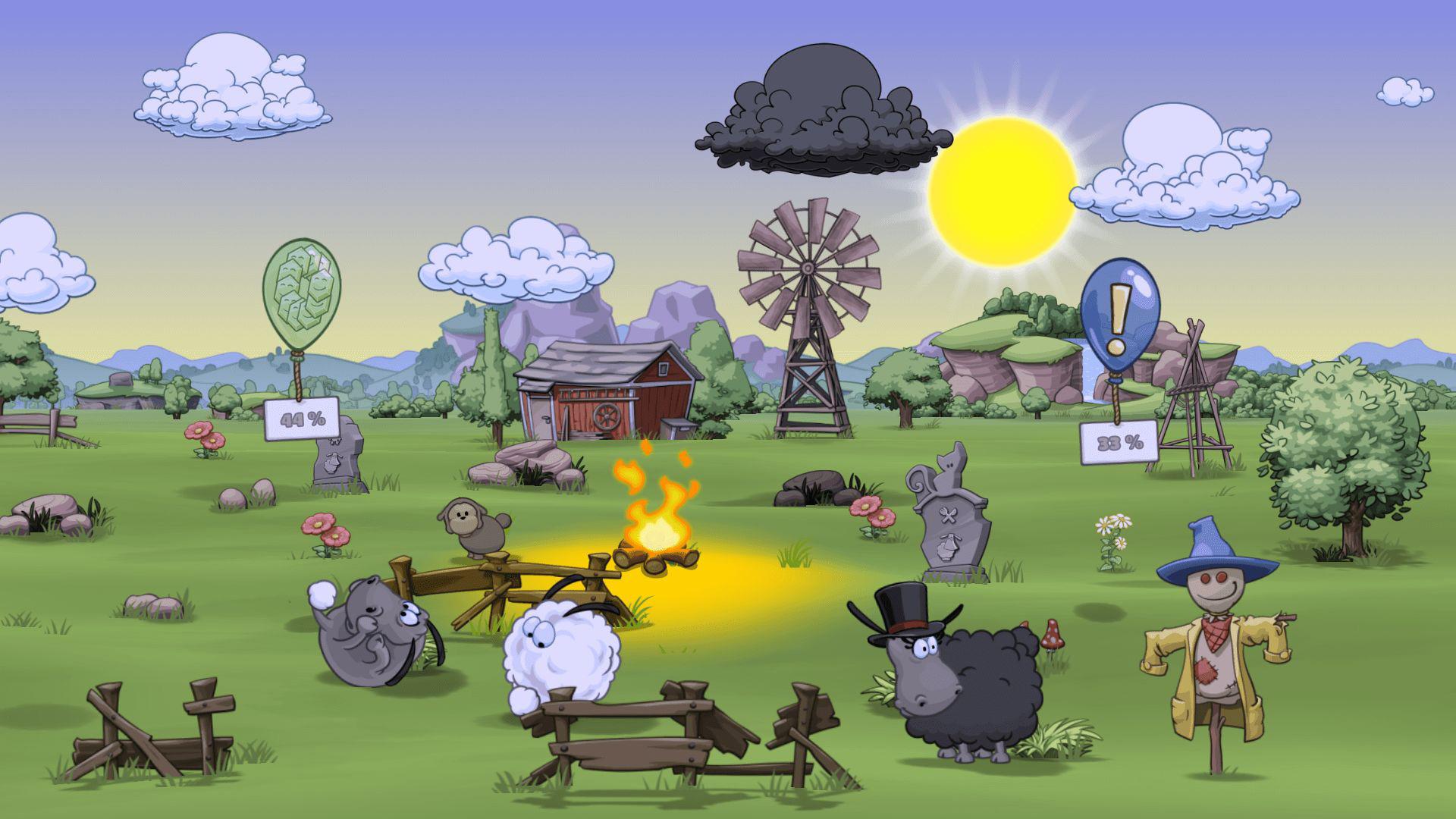 """Hat im Vergleich zum Vorjahr abgenommen: der Marktanteil von deutschen Smartphone-, Tablet- und Browser-Games-Produktionen. Hier im Bild: """"Clouds & Sheeps 2"""" von HandyGames in Giebelstadt."""