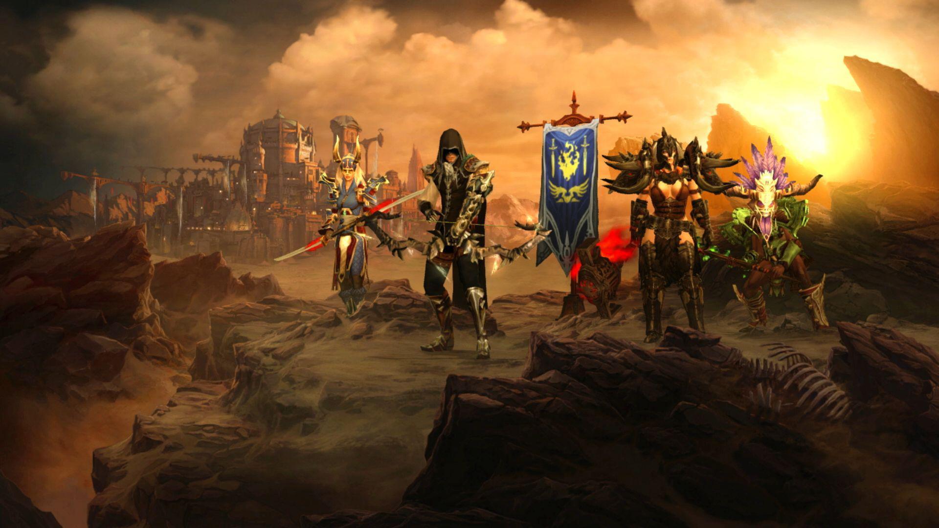 """Sind ebenfalls mit von der Partie: Alte """"Diablo 3""""-Haudegen wie Barbar, Dämonenjäger, Zauberer, Hexendoktor oder Mönch."""