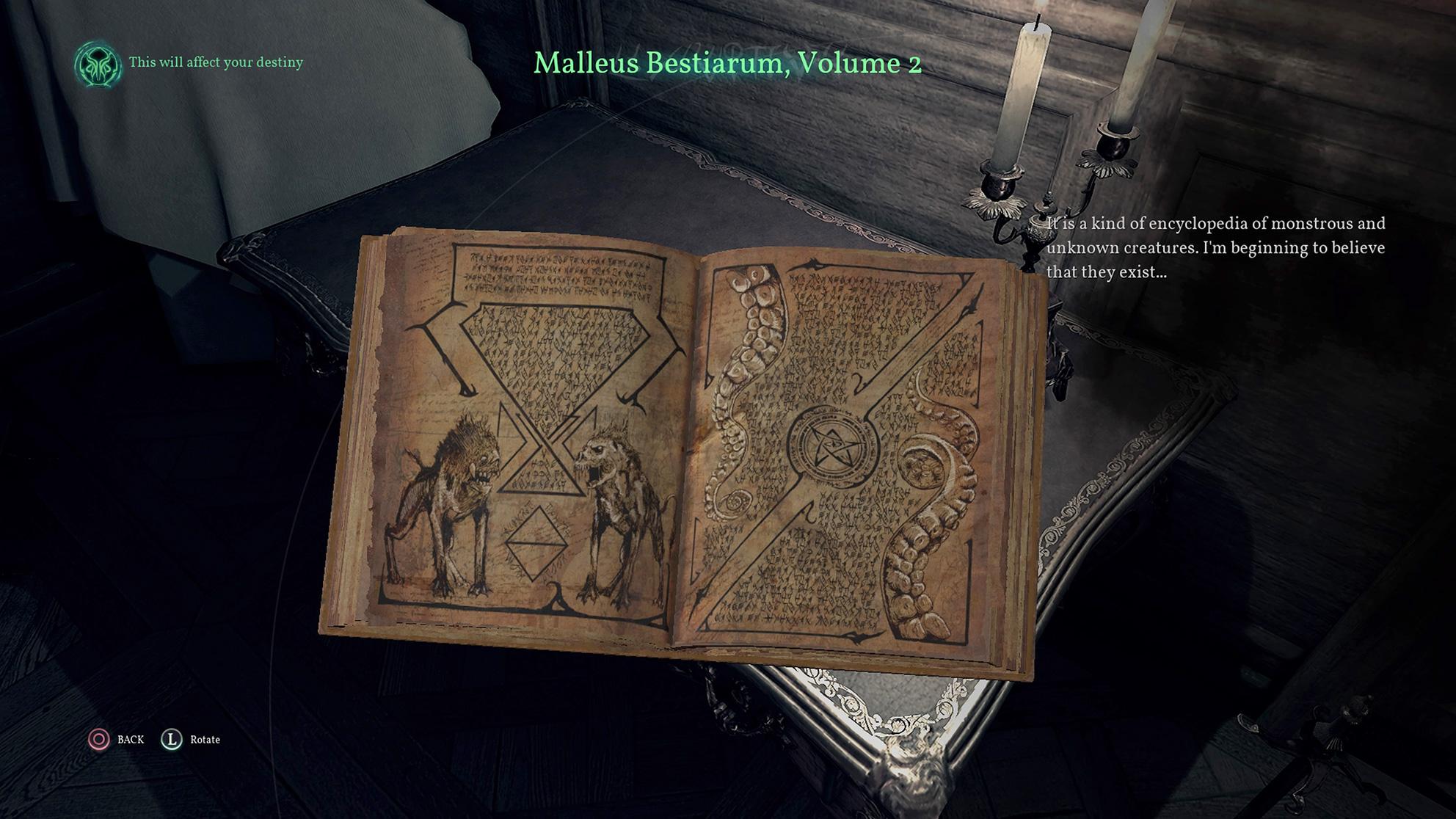 Gruselige Schriftstücke bessern das Wissen um den Cthulhu-Mythos auf, ziehen aber den Geist des Helden in Mitleidenschaft.