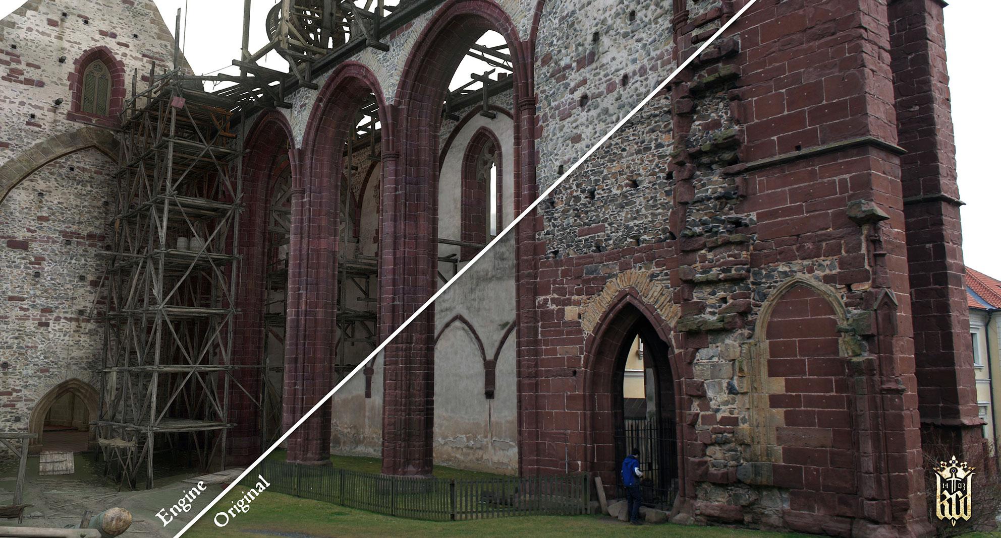Bei Gestaltung bekannter Burgen, Kathedralen und anderer Gebäude ging man besonders genau vor.
