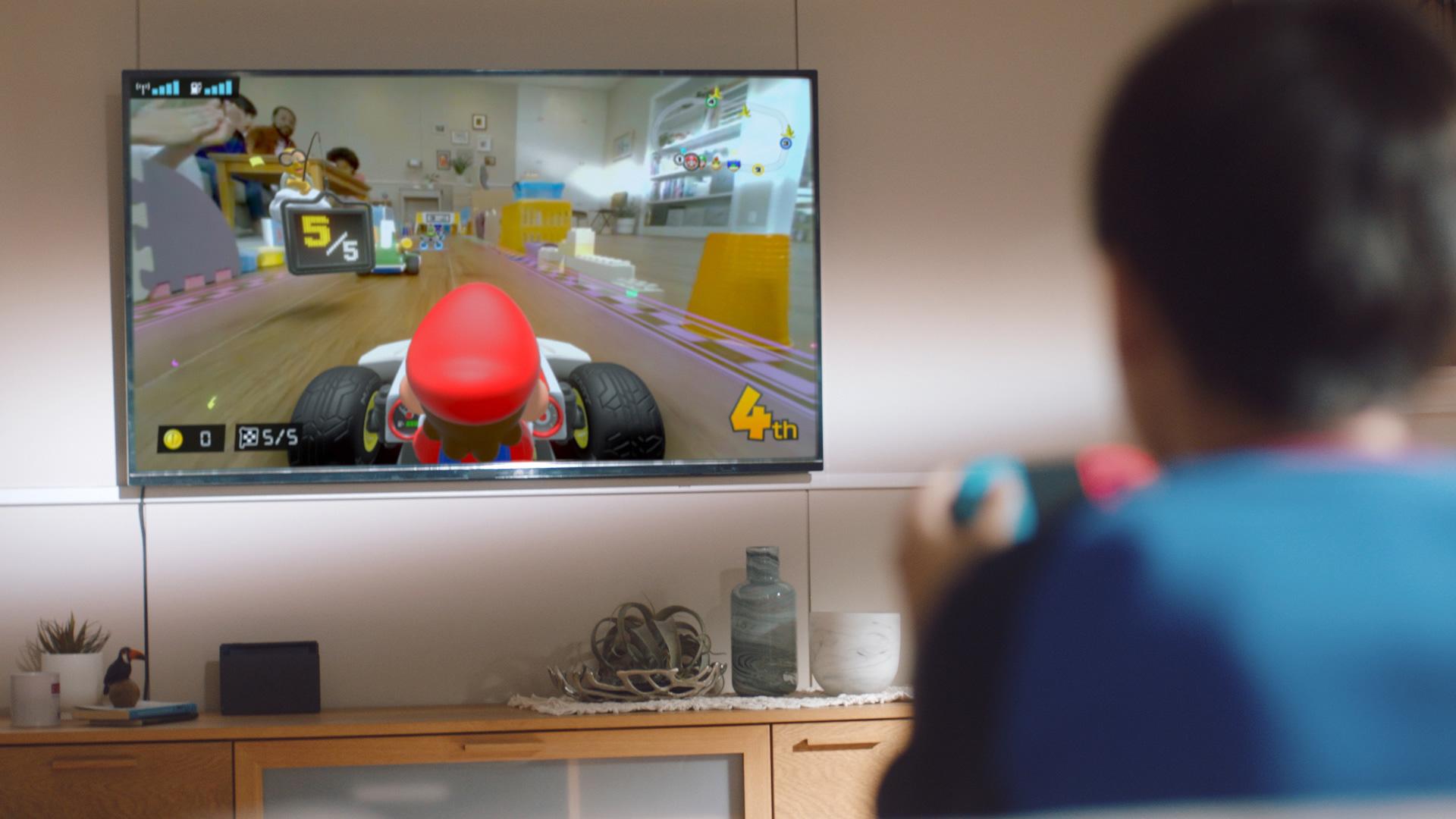 """""""Mario Kart Live"""" ist auch im Dock-Betrieb spielbar –allerdings macht sich die niedrige Videoauflösung hier bemerkbar."""