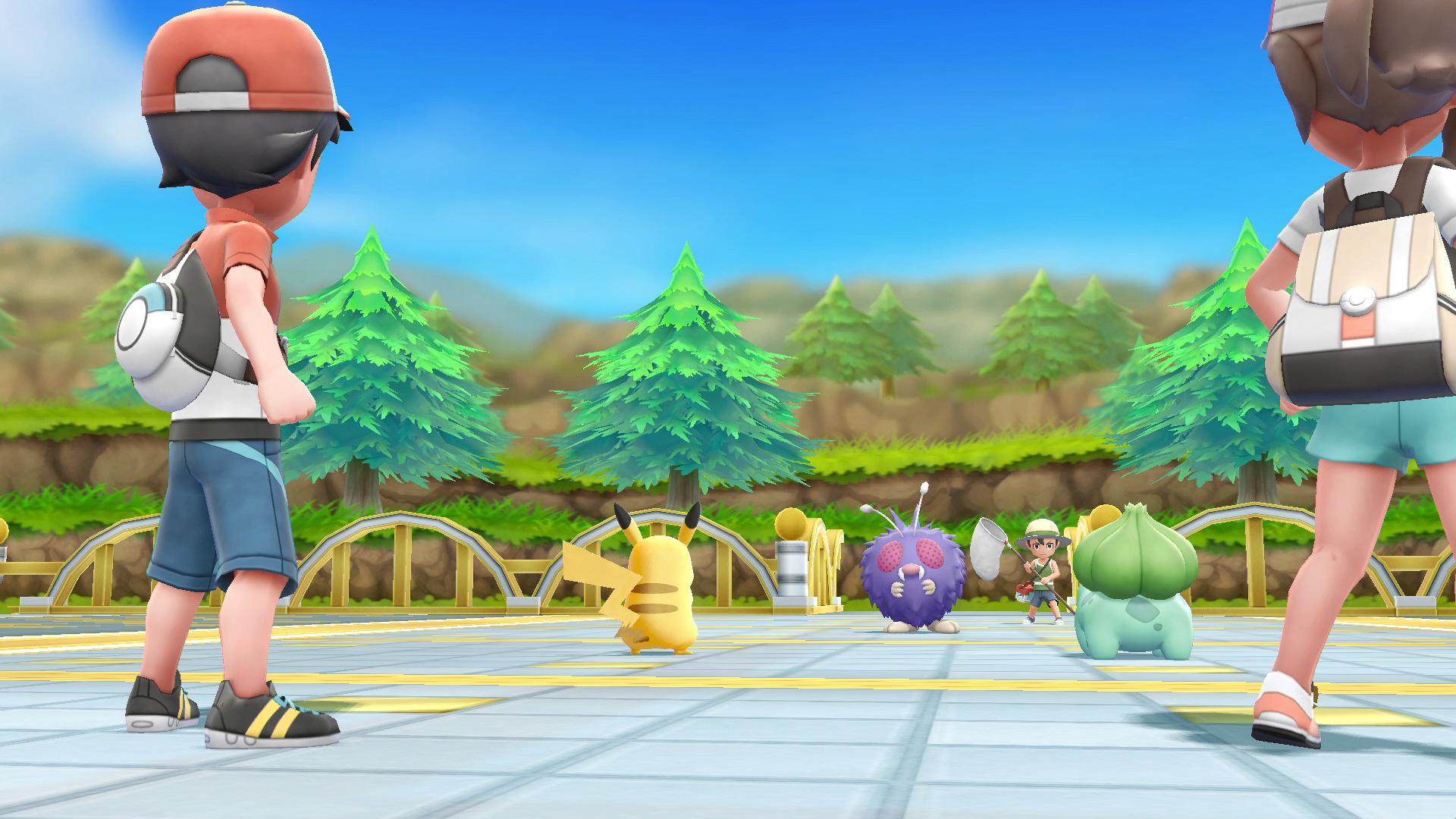 """Klassische Rundenkämpfe bietet das neue """"Pokémon"""" nur im Gefecht gegen andere Trainer. Wer sich zu schwach fühlt, ruft per Multiplayer-Modus einen Kumpel zur Hilfe."""