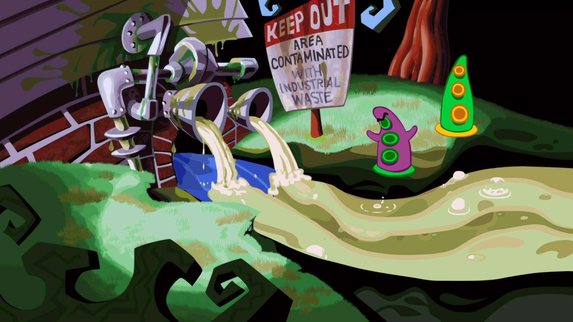 """Gelungenes Wiedersehen: Adventure-Spezialist Double Fine hat LucasArts-Klassiker wie """"Day of the Tentacle"""" in penibel überarbeitete Remaster-Versionen verwandelt."""