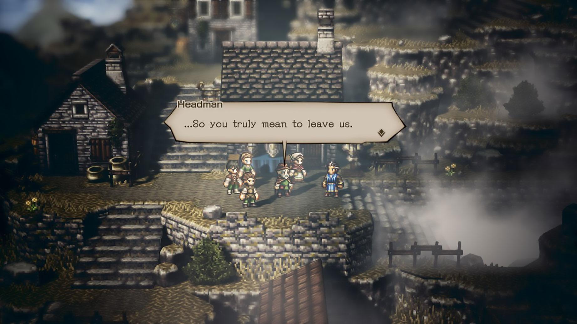 Zur Vermittlung seiner Geschichte setzt Square Enix auf viel Dialog, aber zu ausschweifend werden die per Sprechblasen-Wechsel geführten Gespräche zum Glück nie.