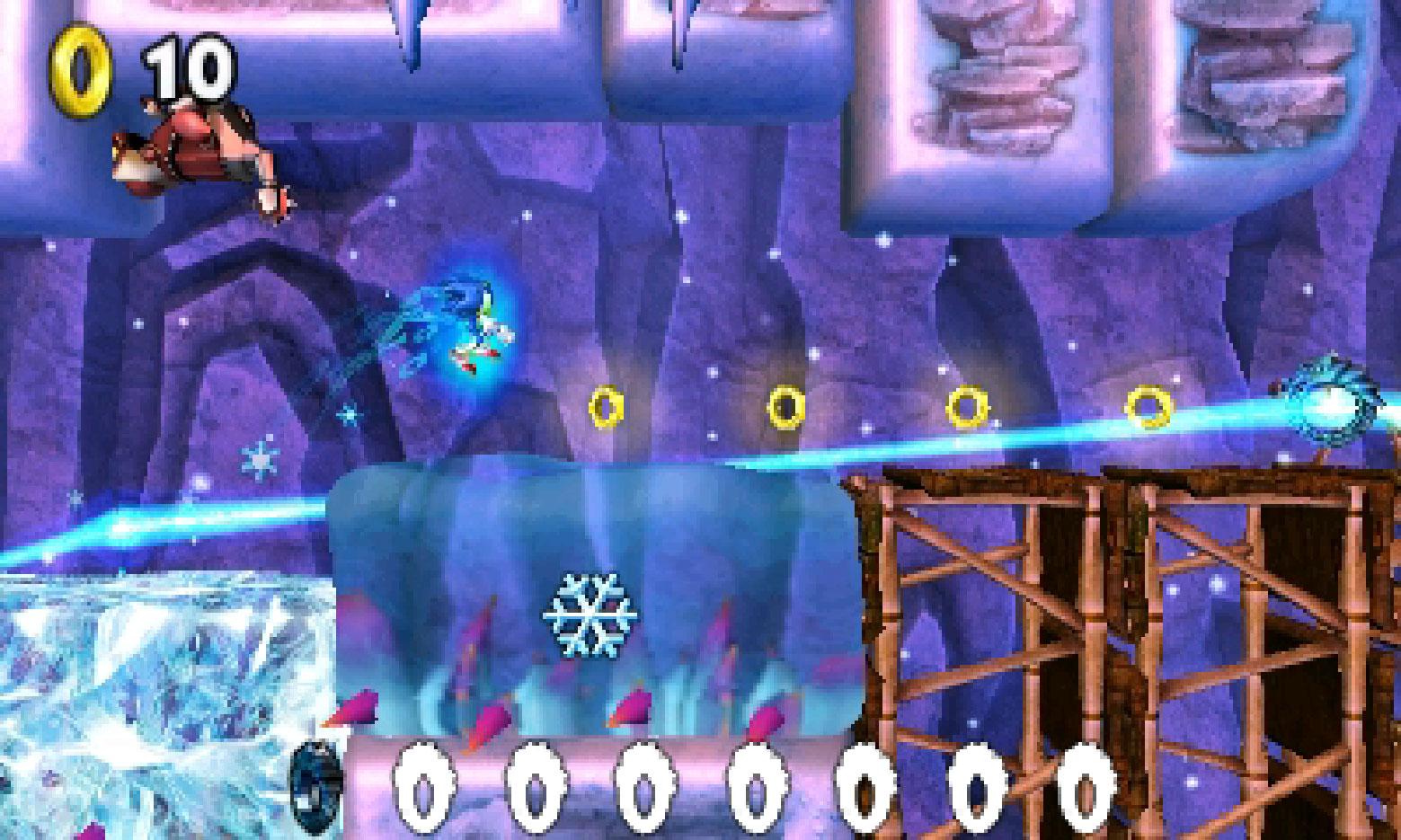 """In """"Sonic Boom: Feuer & Eis"""" gibt sich der komplette Igel-Freundeskreis die Ehre. Fliegender Heldenwechsel, individuelle Charakter-Fähigkeiten und mystische Eis- bzw. Feuer-Kräfte machen dem 2D-Jump'n'Run ordentlich Dampf • ab 30.09. für 3DS"""