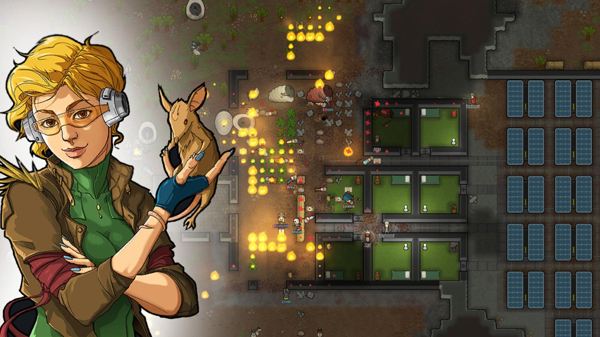 """Die Space-Simulation """"RimWorld"""" war das unter Steam-User beliebteste Spiel 2018."""