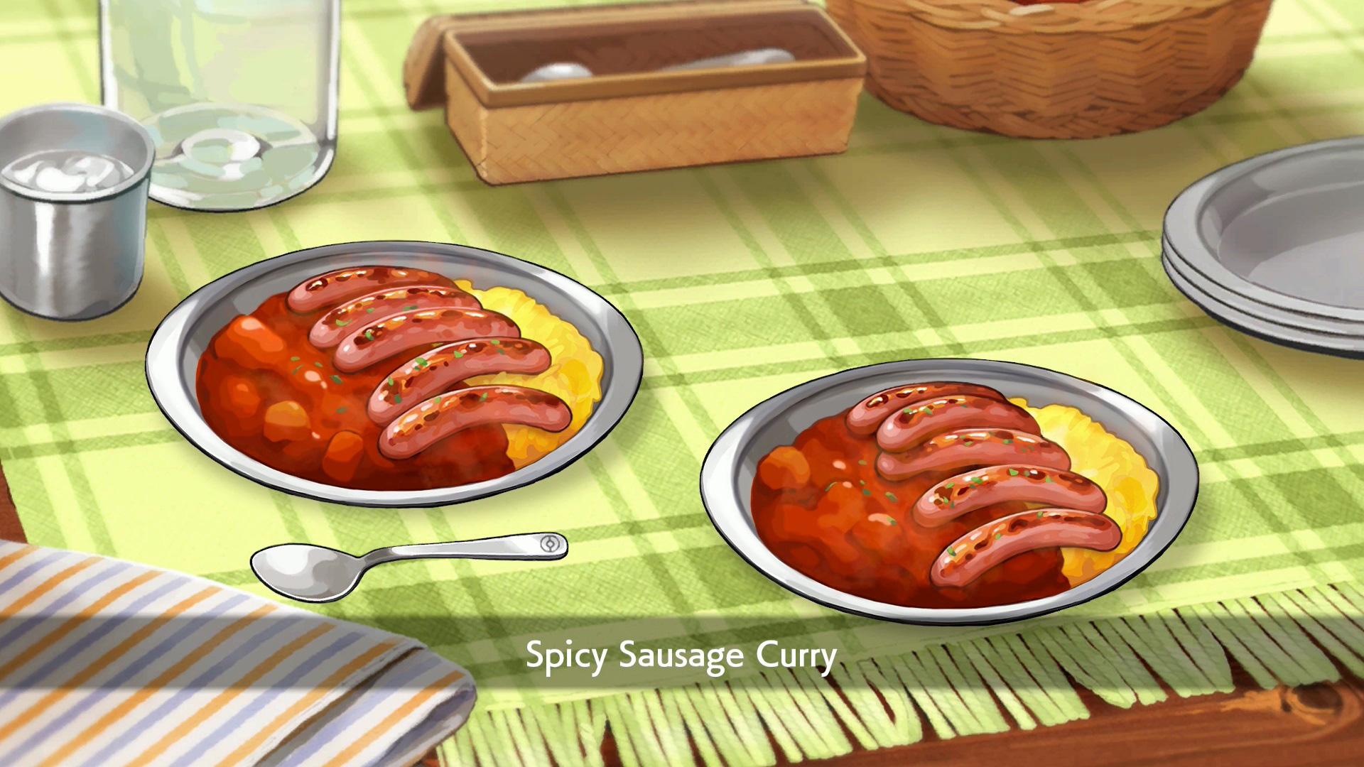 Die Kochfunktion ermöglicht unter anderem die Zubereitung von Curry-Würstchen. Nur: Woraus bestehen die eigentlich? Doch nicht etwas aus niedlichen Pokémon, die dafür beim Schlachter gelandet sind?