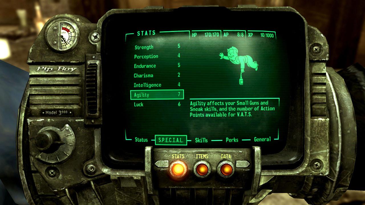 """Weil man während der 90er kein neues """"Wasteland"""" veröffentlichen darf, hebt man bei Interplay 1997 mit """"Fallout"""" eine ähnliche Marke aus der Taufe. Der ver-ego-shooterte Teil 3 stellt den bisherigen Höhepunkt dar, Ende des Jahres erscheint Teil 4."""