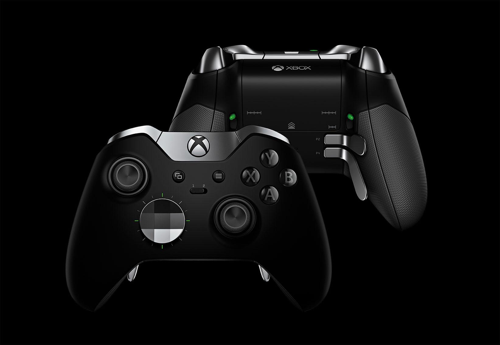 Xbox Elite Wireless Controller: Auflagefläche bzw. Digikreuz sind ebenso austauschbar wie die Sticks. Auf der Rückseite des Pads finden außerdem Kippschalter Halt, die bei Bedarf die Funktion der Buttons ersetzen. Kostenpunkt: 150 Dollar