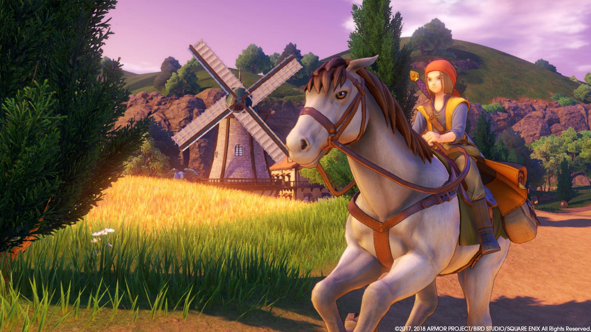 """Die """"Dragon Quest 11""""-Spielterrains können auch auf dem Pferderücken durchquert werden. Wirklich lohnenswert ist das Aufsatteln aber nur selten: Die meisten Gebiete sind überschaubar, zu Fuß hat man sie fast genauso schnell durchquert."""