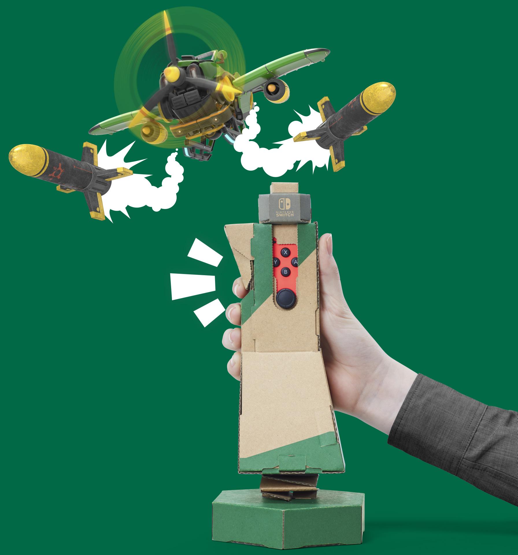 """Funktioniert fast wie ein echter """"Flight-Stick"""": der Steuerknüppel für das Flugzeug"""