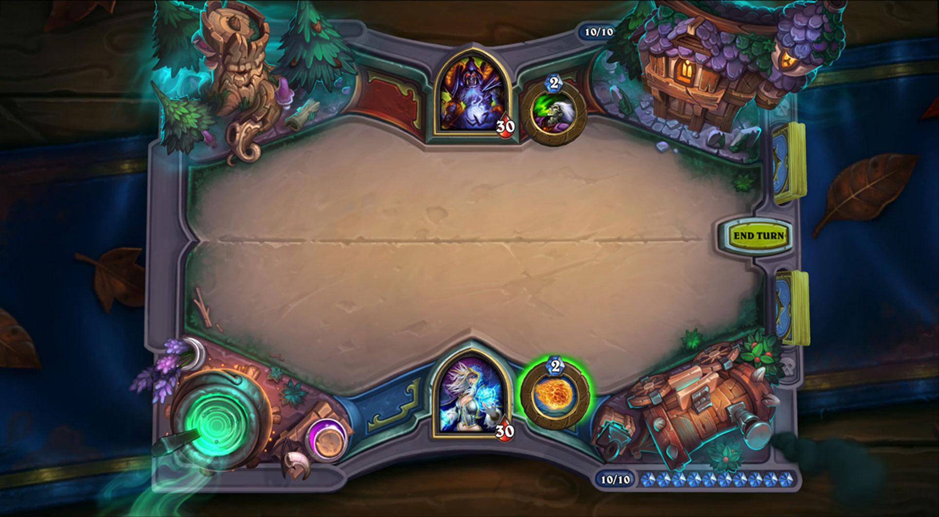 Fans von Blizzards digitalem Sammelkarten-Spiel dürfen sich dabei über ein neues Spielbrett freuen...