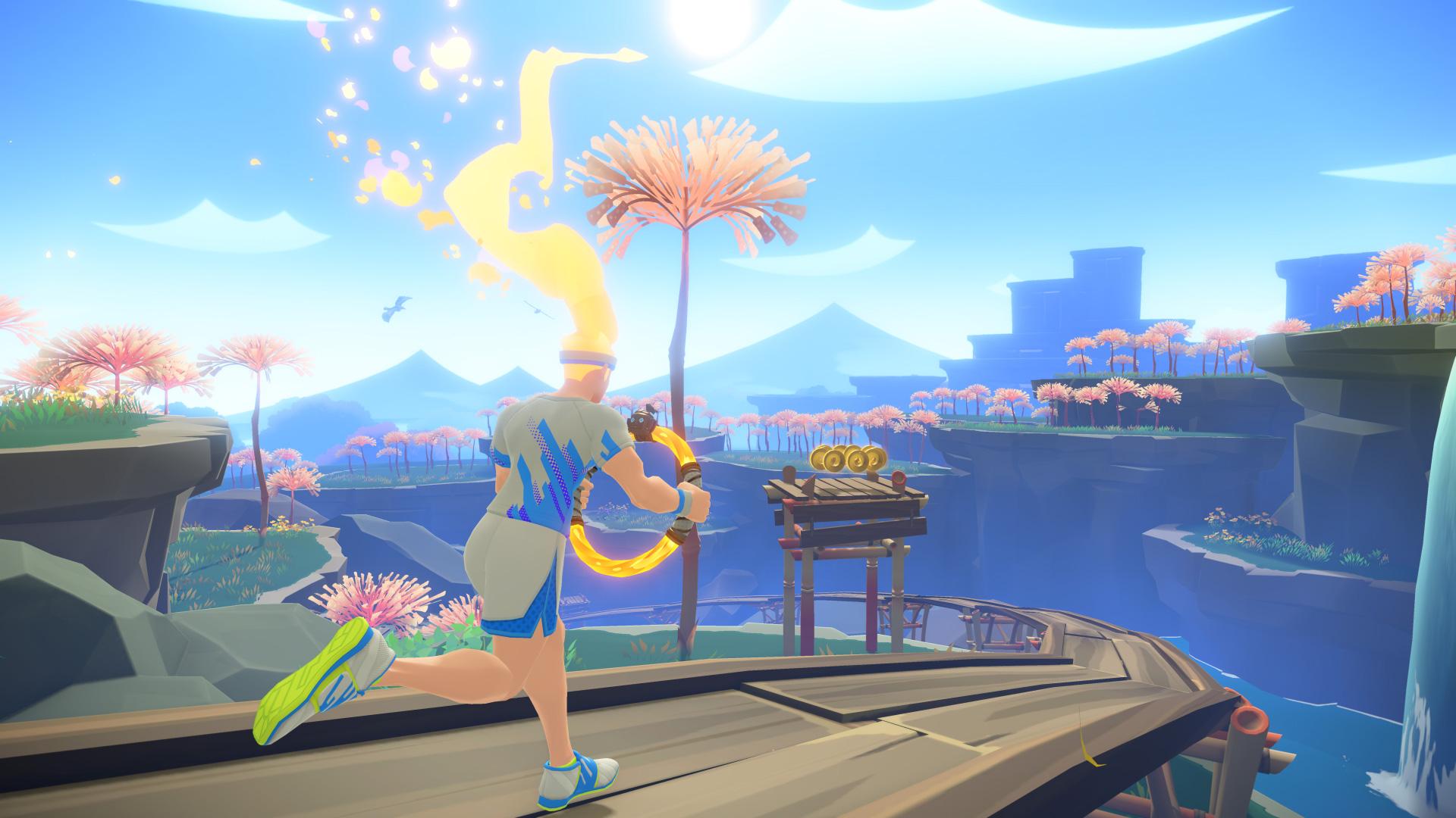 Strengt sich der Spieler genug an, gehen die Haare seines Avatars in Flammen auf.