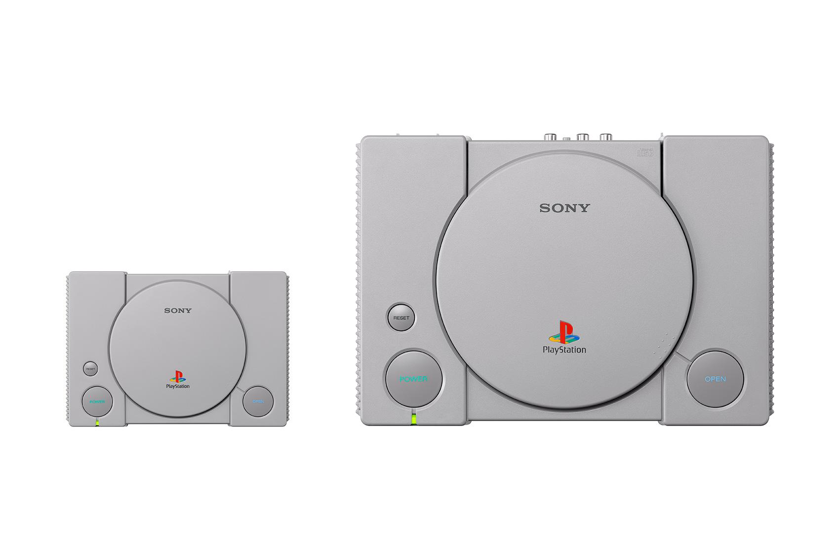 Schön handlich: Die Mini-PlayStation ist um 45 Prozent kleiner als das Original und kommt außerdem mit 20 vorinstallierten Spiele-Klassikern.