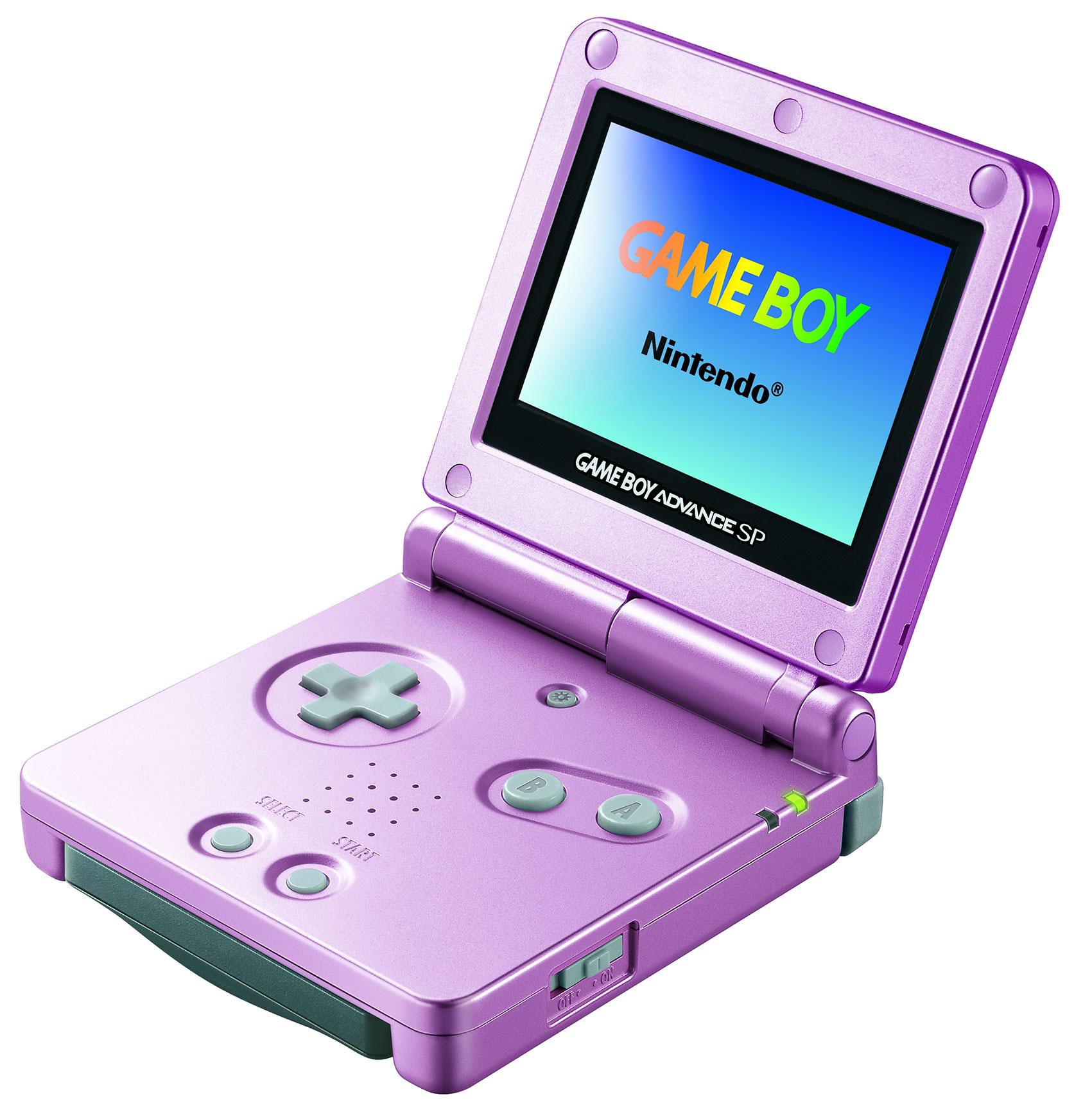 """Hosentaschen-Konsole zum Auf- und Zuklappen: der """"Advance SP"""" lässt bereits das Konzept des später veröffentlichten Nintendo DS erahnen."""