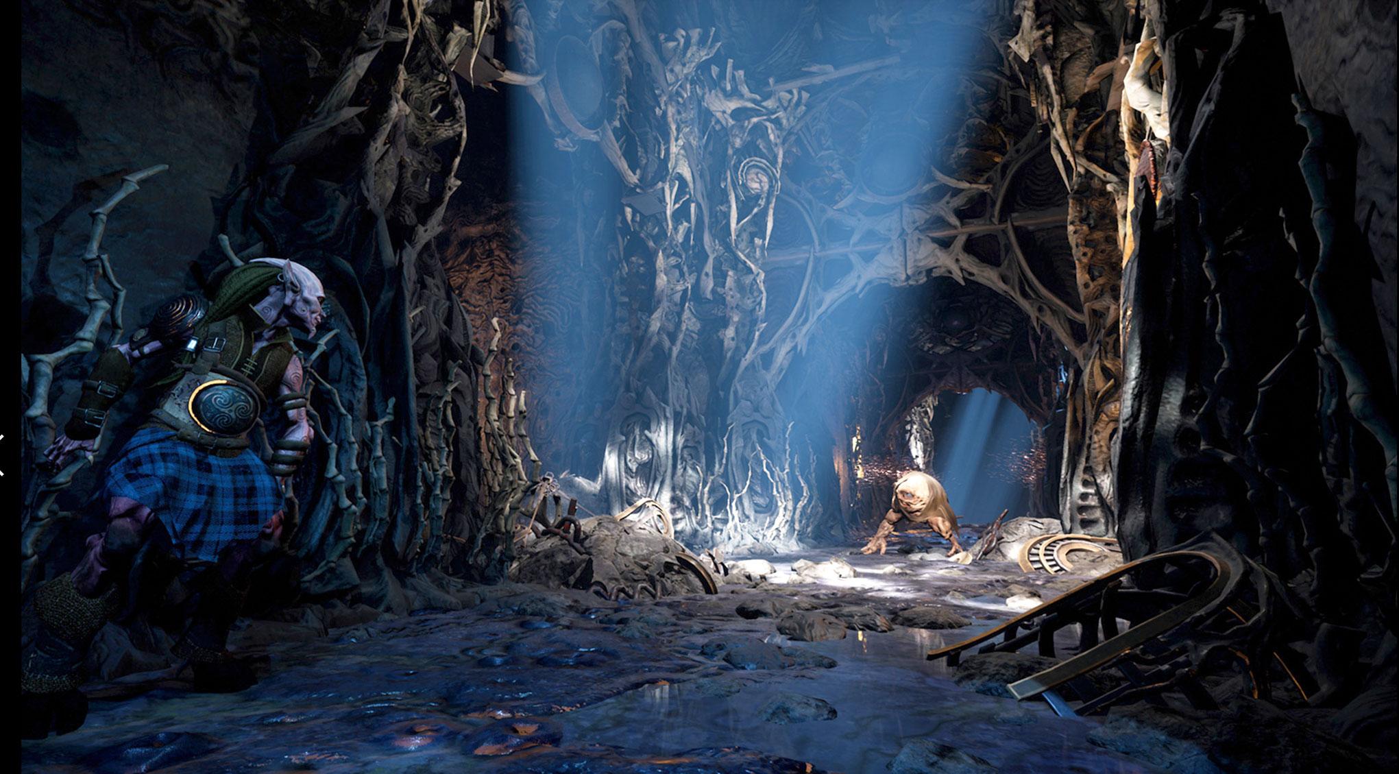 """""""Bard's Tale 4"""" wird Serien-typisch ein Fest für Dungeon-Fans. Mithilfe von Photogrammetrie sorgt Entwickler Inxile dabei für einen plastischen und realistischen Umgebungs-Look."""