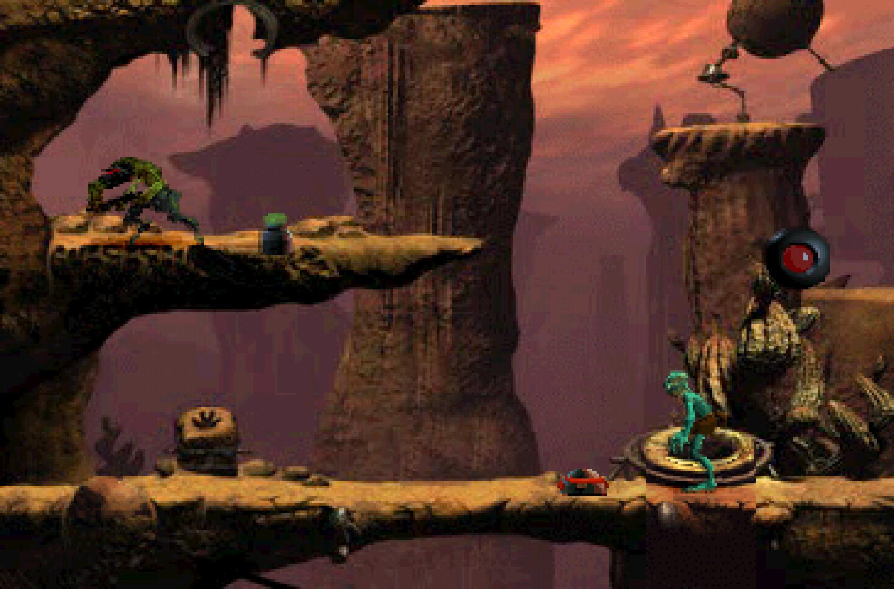 """Außerirdisch gutes Jump'n'Run mit Knobel-Schlagseite: """"Oddworld: Abe's Oddysee"""" gehört ebenfalls zur Sammlung."""