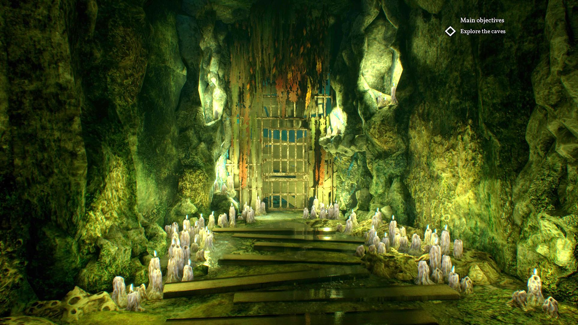 """In unterirdischen Höhlen und Gebäuden offenbart """"Call of Cthulhu"""" oft wunderschöne Grafik-Details, aber..."""