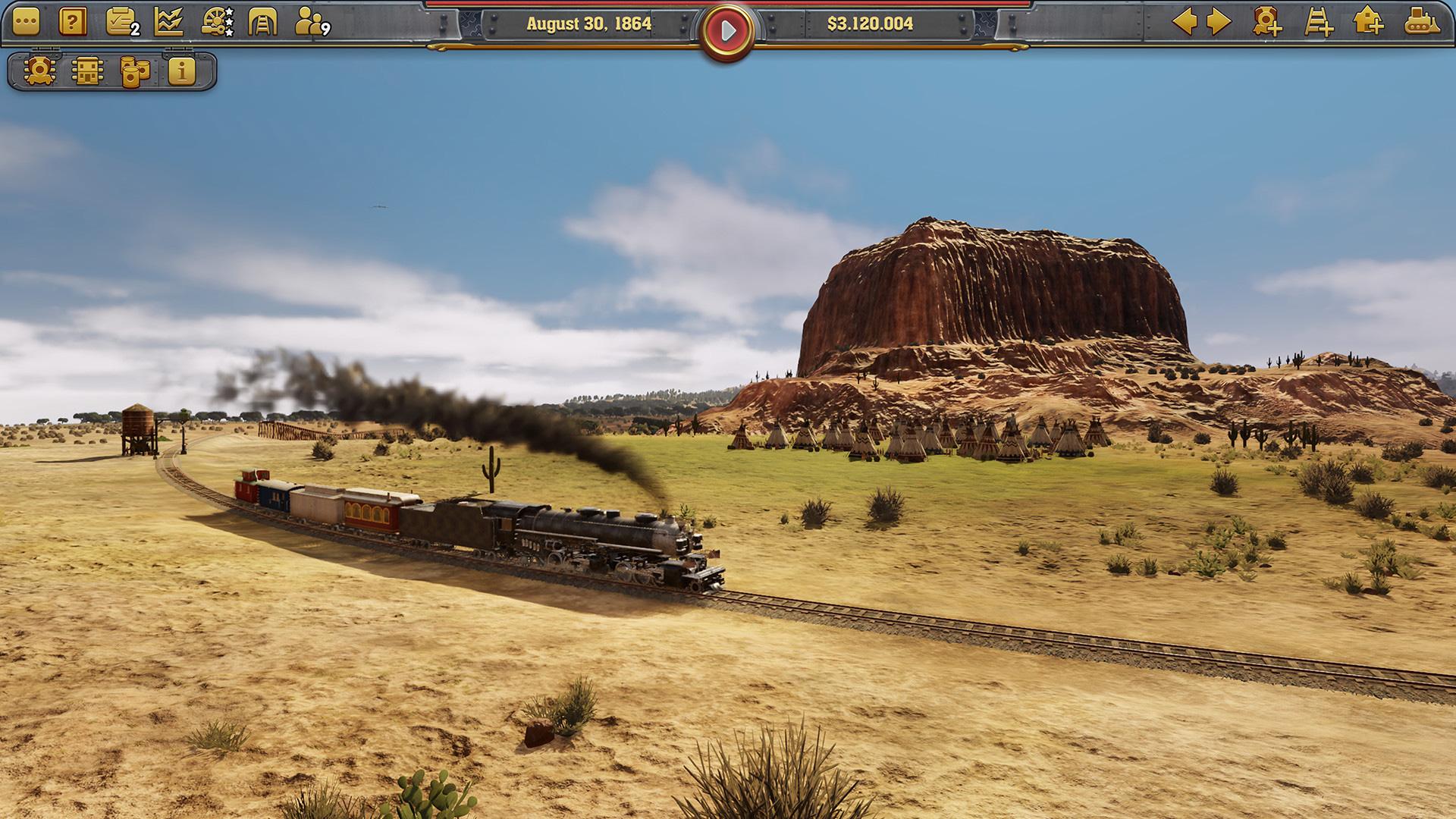 """Wirtschaftssimulation auf Schienen: """"Railway Empire"""" von Deck 13."""