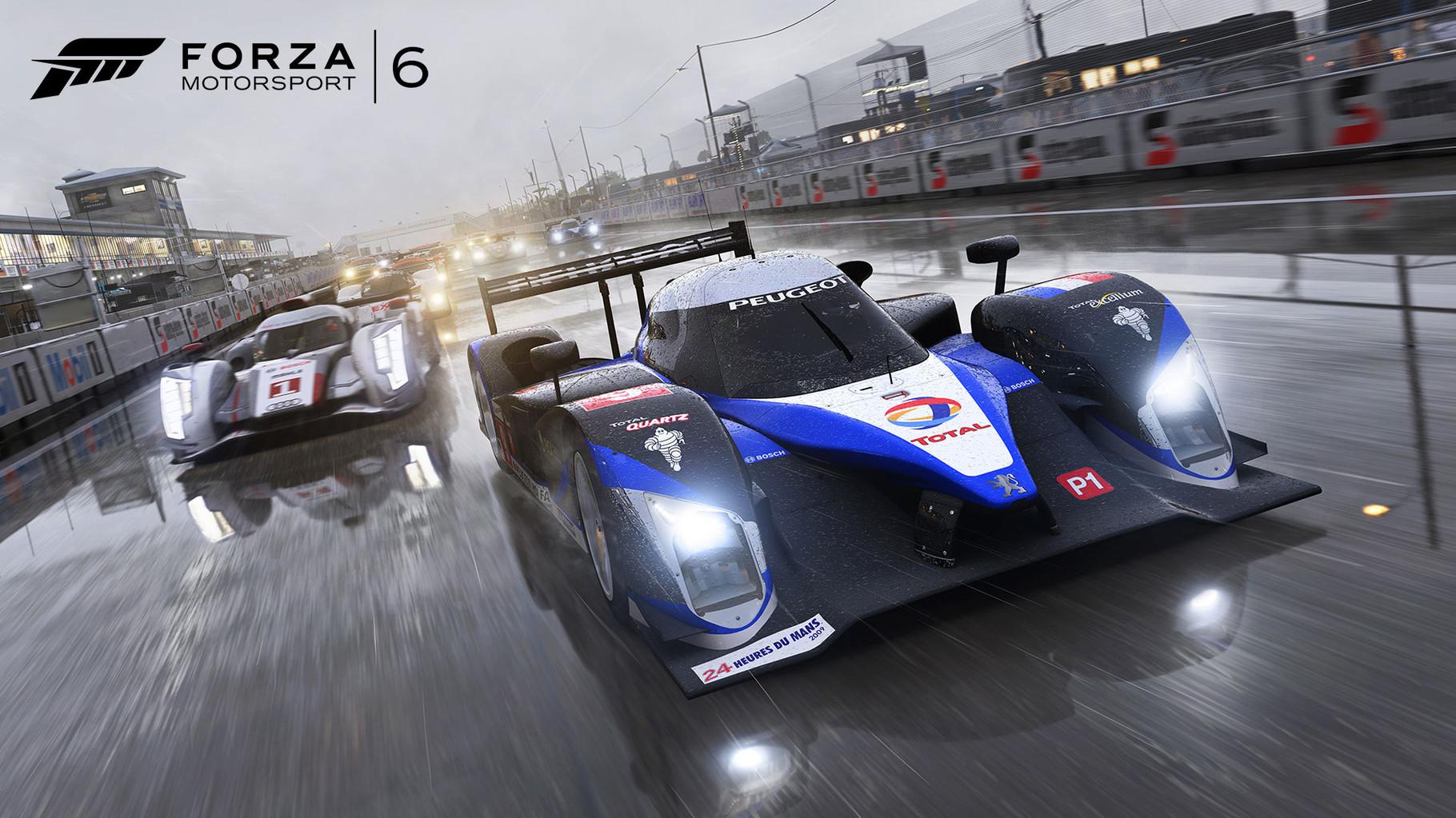 """Forza 6: Bald kommen wieder Microsofts Vorzeige-Boliden aus der Garage: """"Forza 6"""" wird den Rennsport-Stall des Herstellers nicht nur um neue Fahrzeugmodelle und Strecken, sondern vor allem um Nachtrennen und ein ausgereiftes Wettermodell erweitern."""